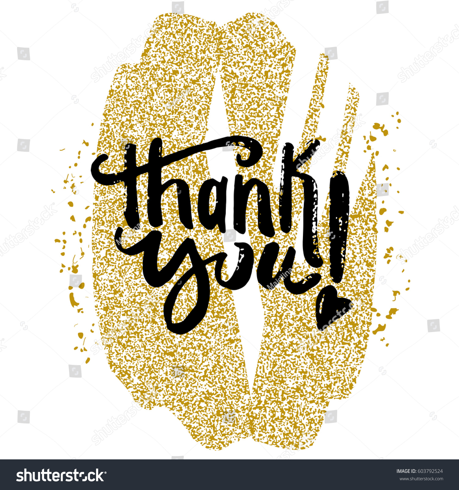Thank You Card Lettering Hand Made Stock Vector Royalty Free