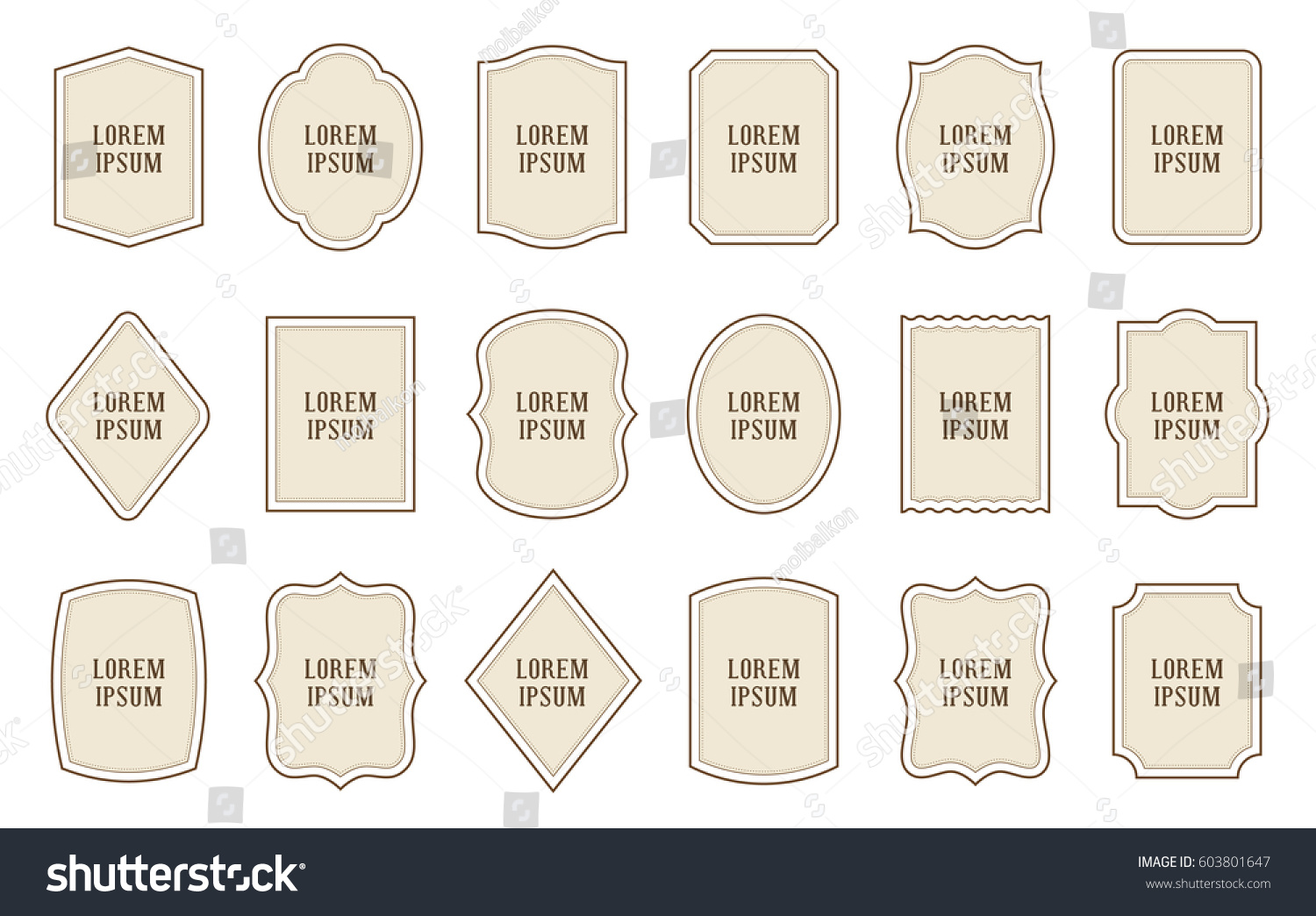 Set Product Retro Label Templates Different Stock Vector 603801647 ...