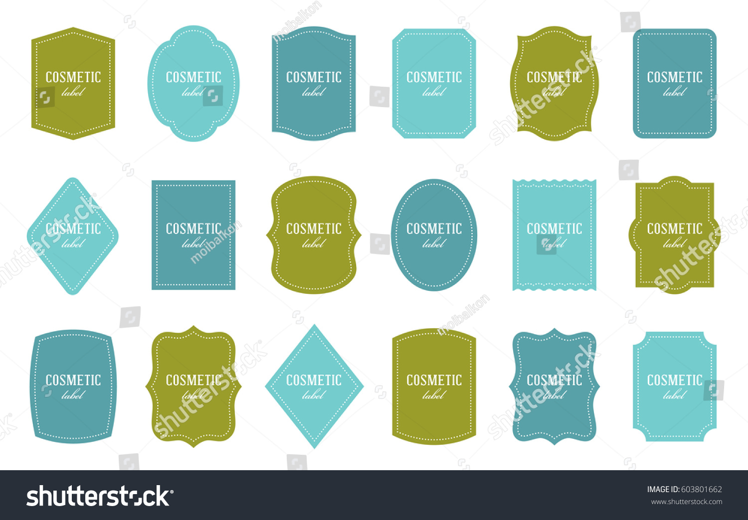 Set Product Label Templates Different Shapes Stock Vector .