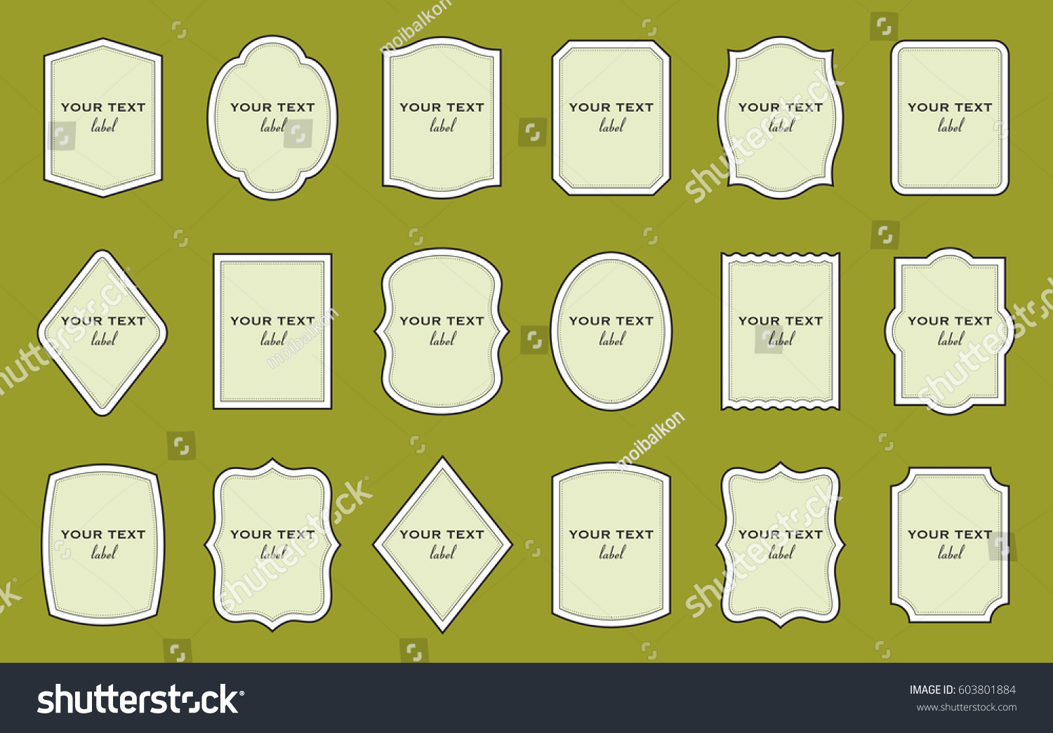 Set Product Label Templates Different Shapes Stock Vector 603801884 ...