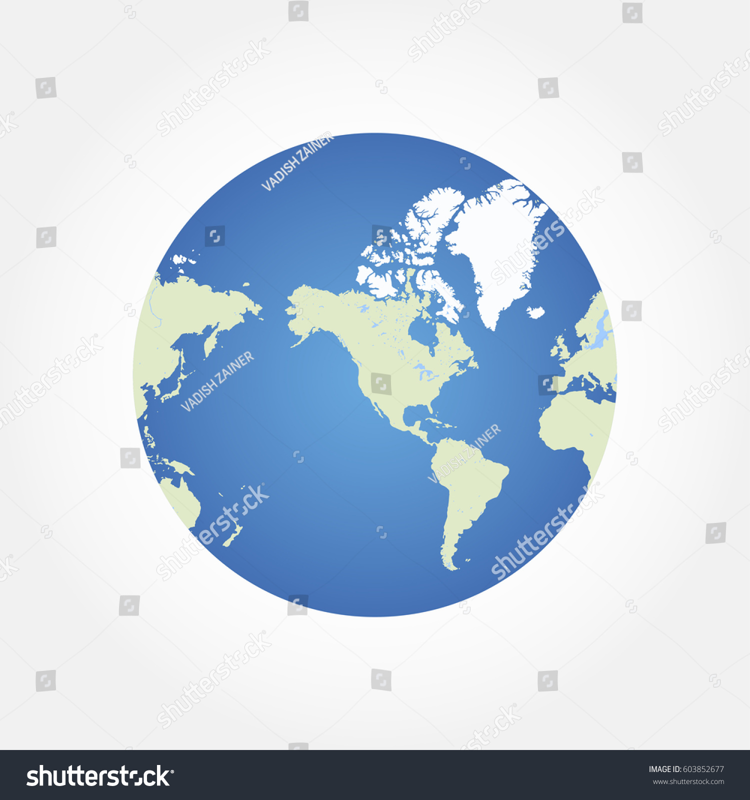 Round globe world map flat vector vectores en stock 603852677 round globe world map flat vector illustration eps 10 gumiabroncs Gallery