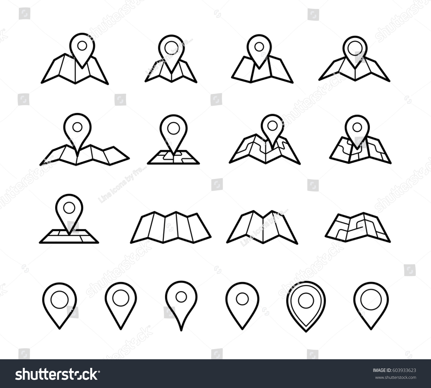 Maps Pins Vector Icons Make Your Stock Vector Royalty Free