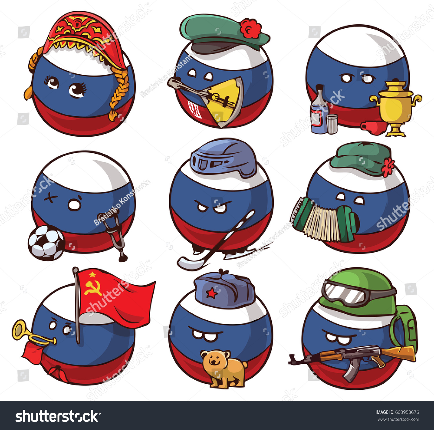 countryballs stickers