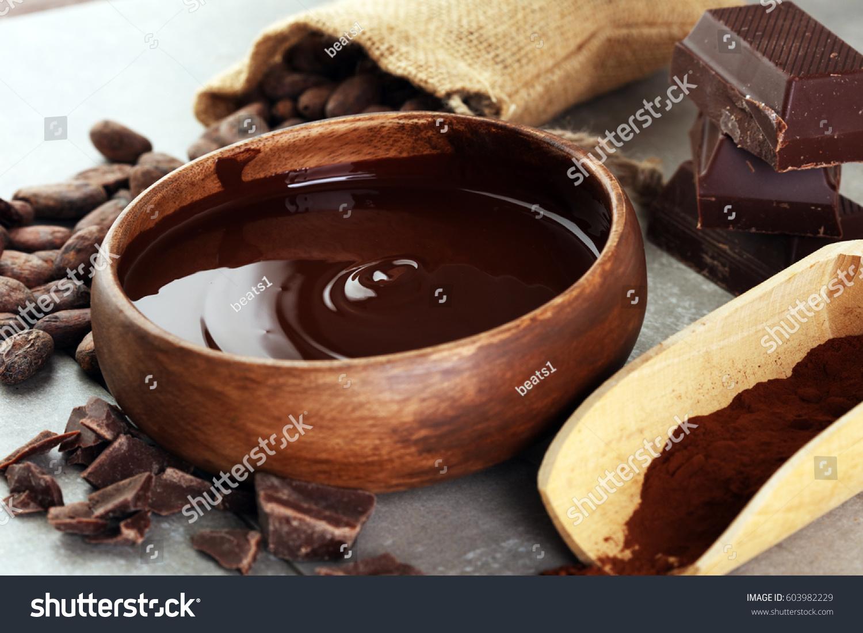 Melting Chocolate Melted Chocolate Chocolate Swirl Stock Photo ...