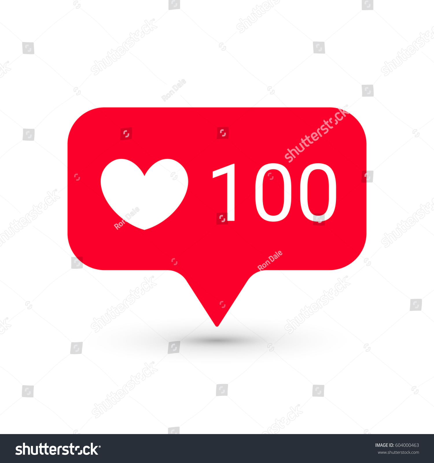 Notifications Vector Icons Template Social Network Stock Vector