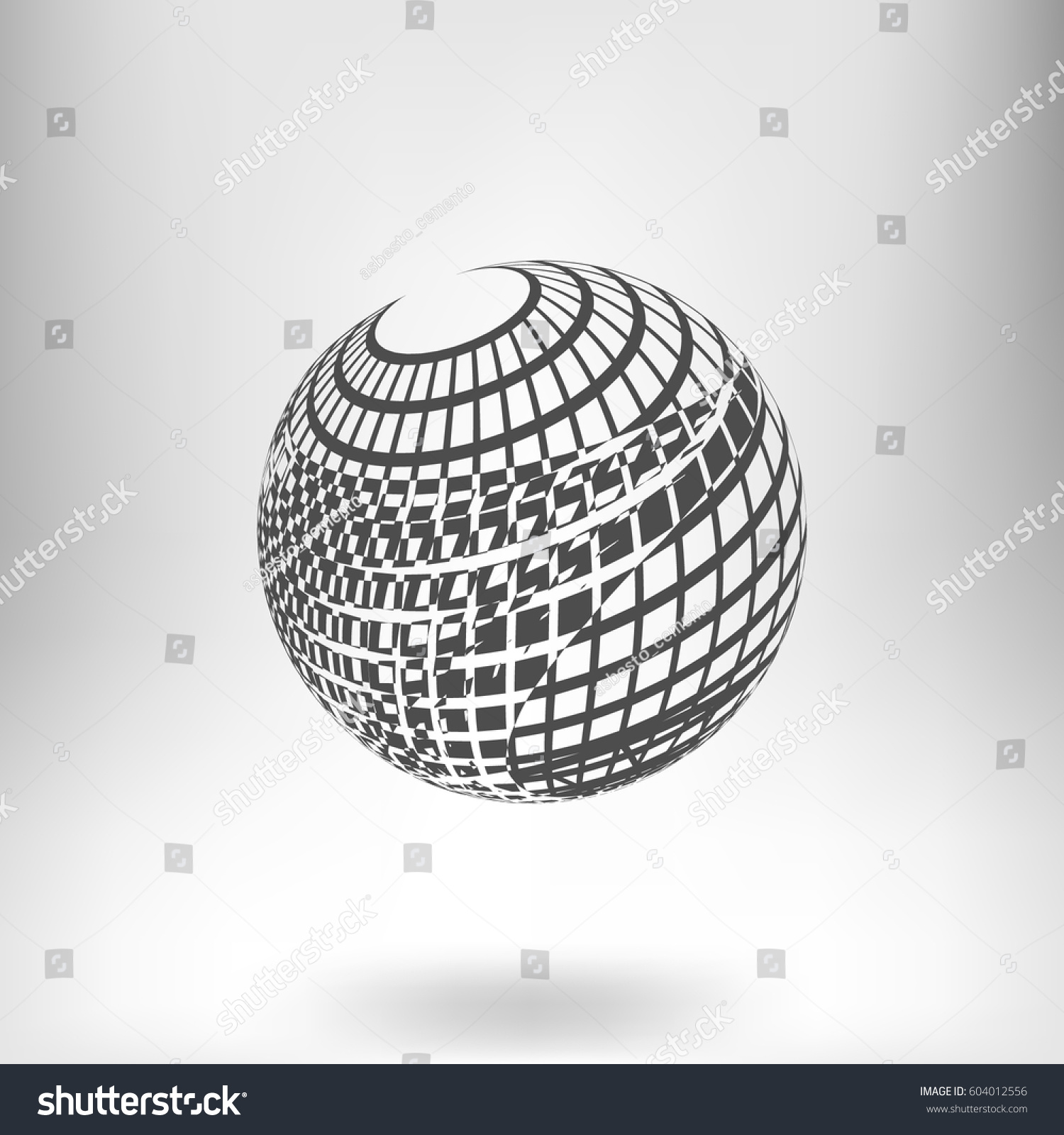 Abstract dotted halftone effect vector ellipse background | EZ Canvas