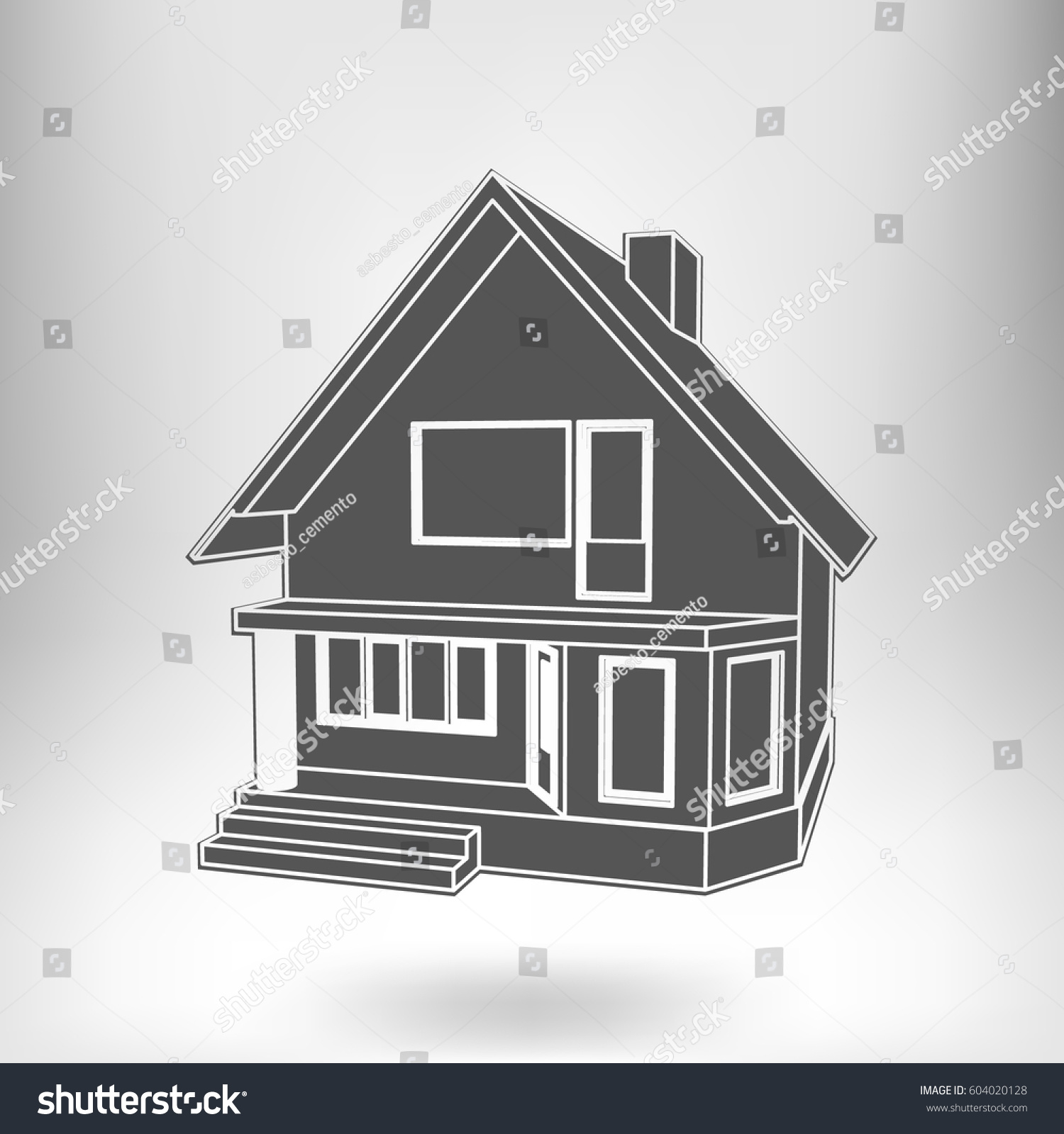 Building perspective 3d drawing suburban house stock vector 604020128 shutterstock 3d house drawing