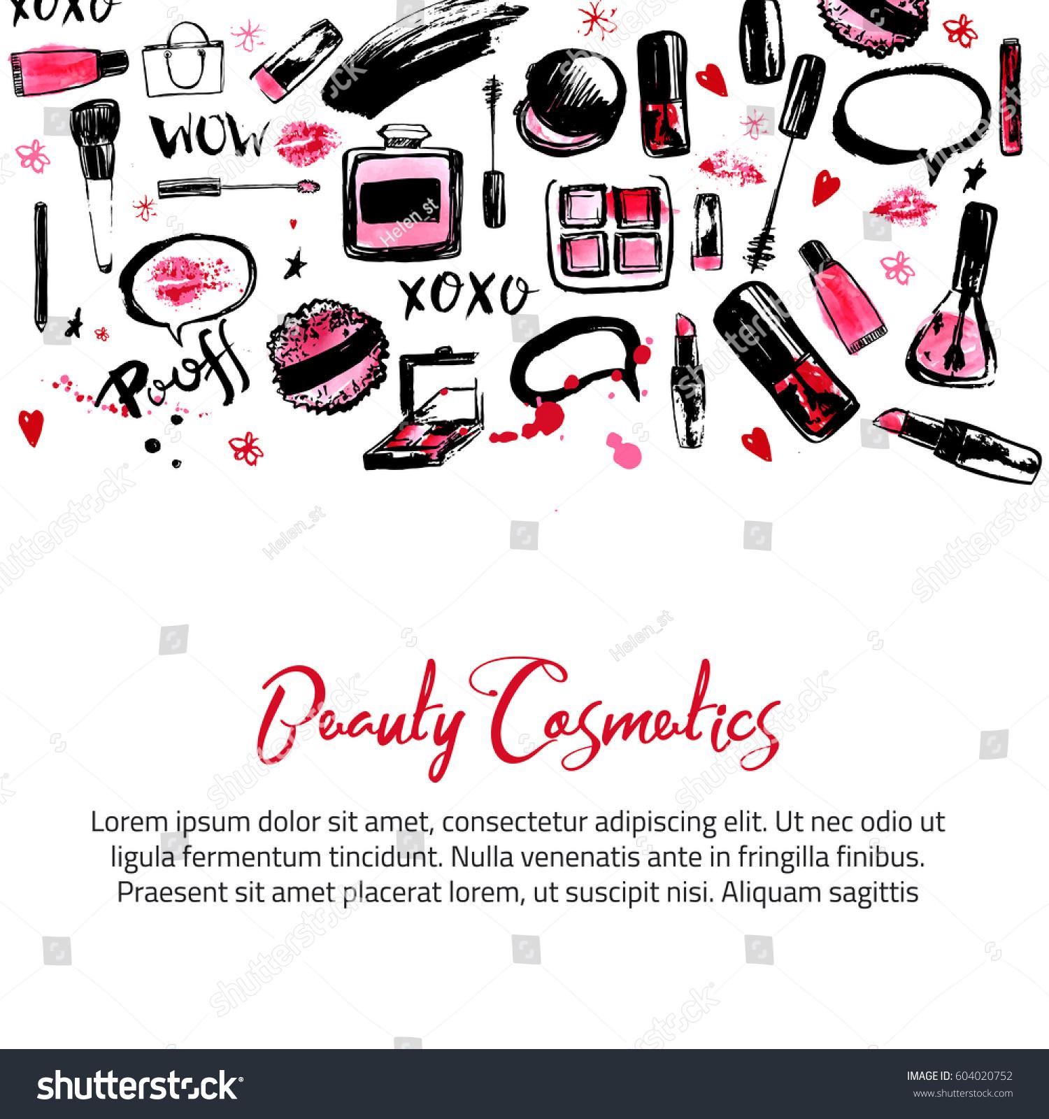 site banner templates makeup artist studio stock vector 604020752 shutterstock. Black Bedroom Furniture Sets. Home Design Ideas