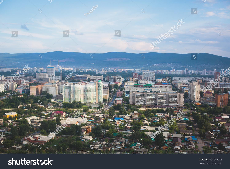 Beautiful Summer View Krasnoyarsk Russia City Stock Photo - Where is russia located