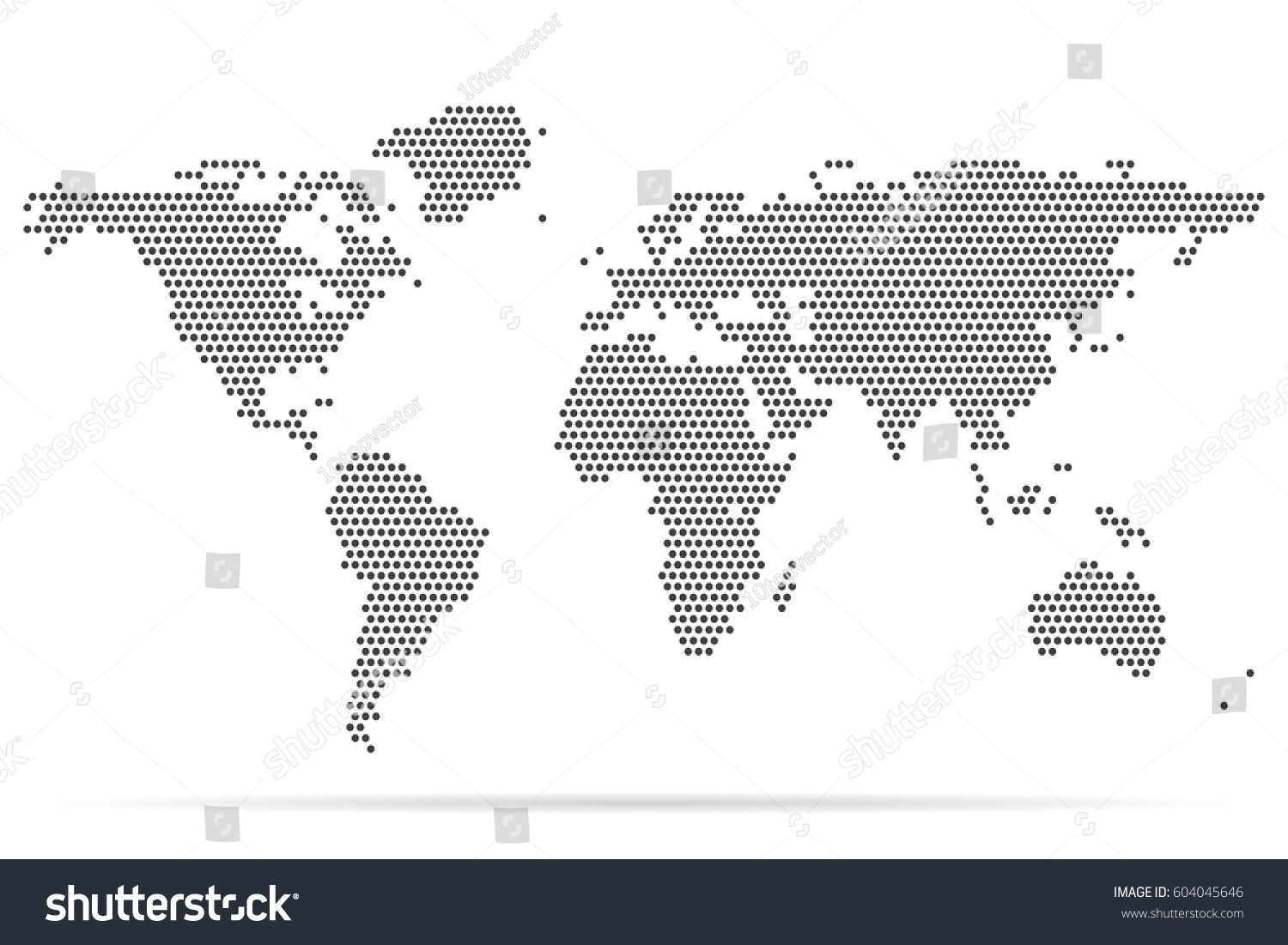 Pixel map world dotted world map stock vector hd royalty free pixel map of world dotted world map vector illustration gumiabroncs