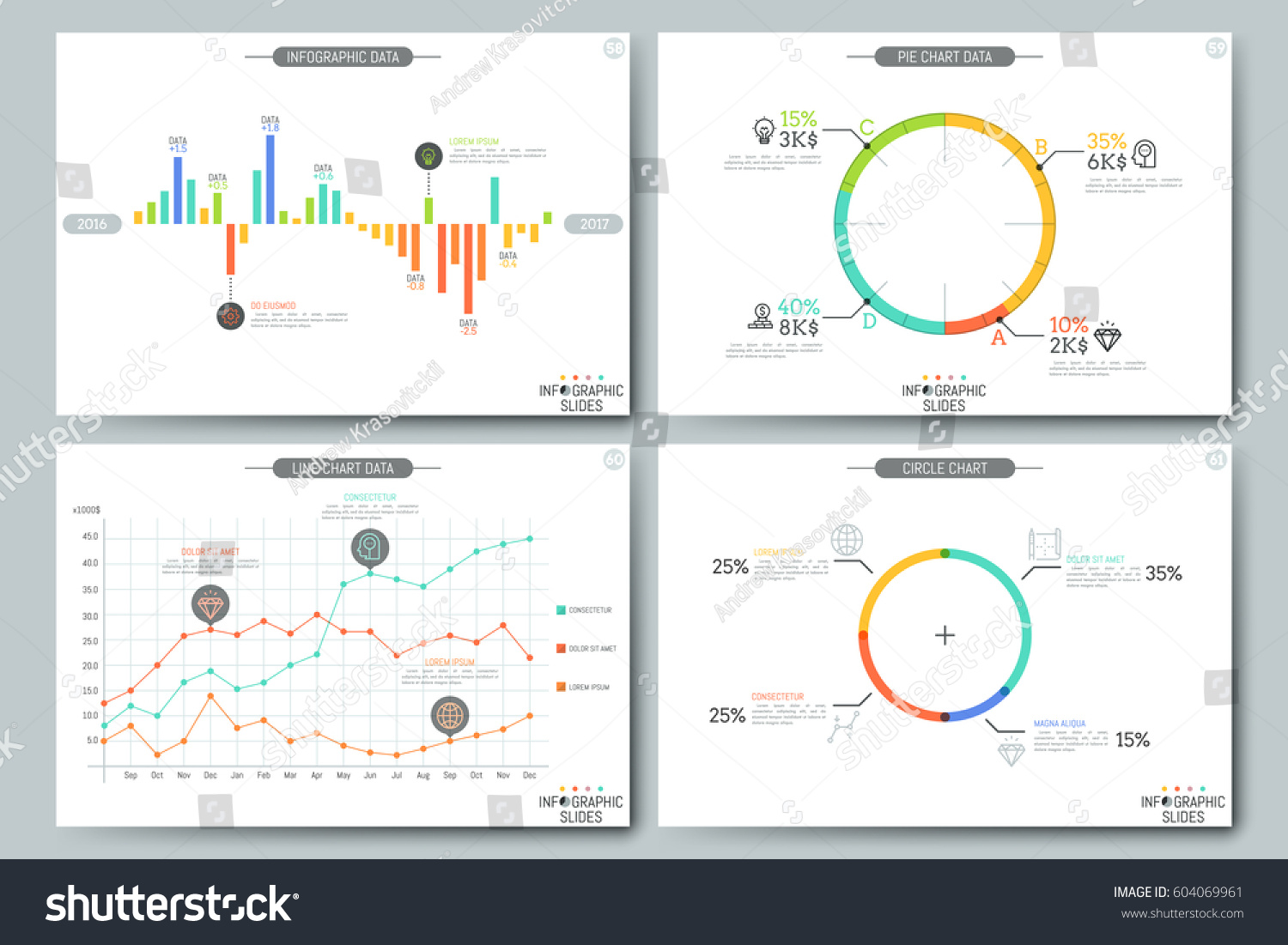 Drawing diagrams in pages - Minimal Infographic Brochure Template Pages With Diagram Graph And Chart Elements Statistical Data