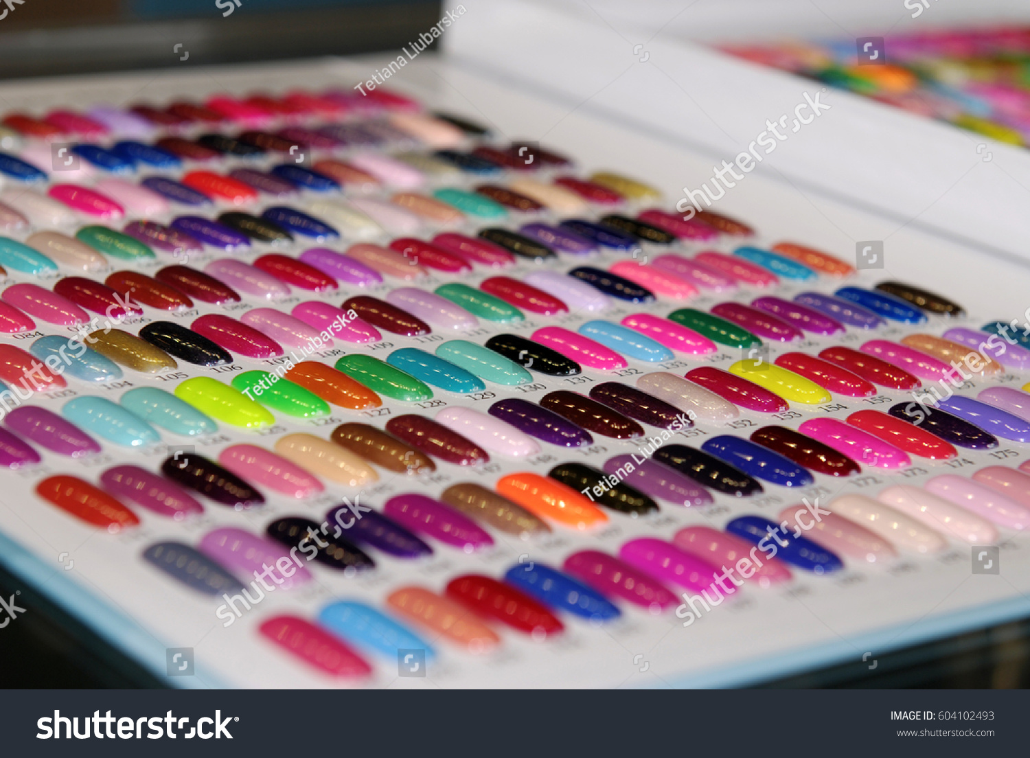 Samples Color Nail Polish Palette Examples Stock Photo (Royalty Free ...
