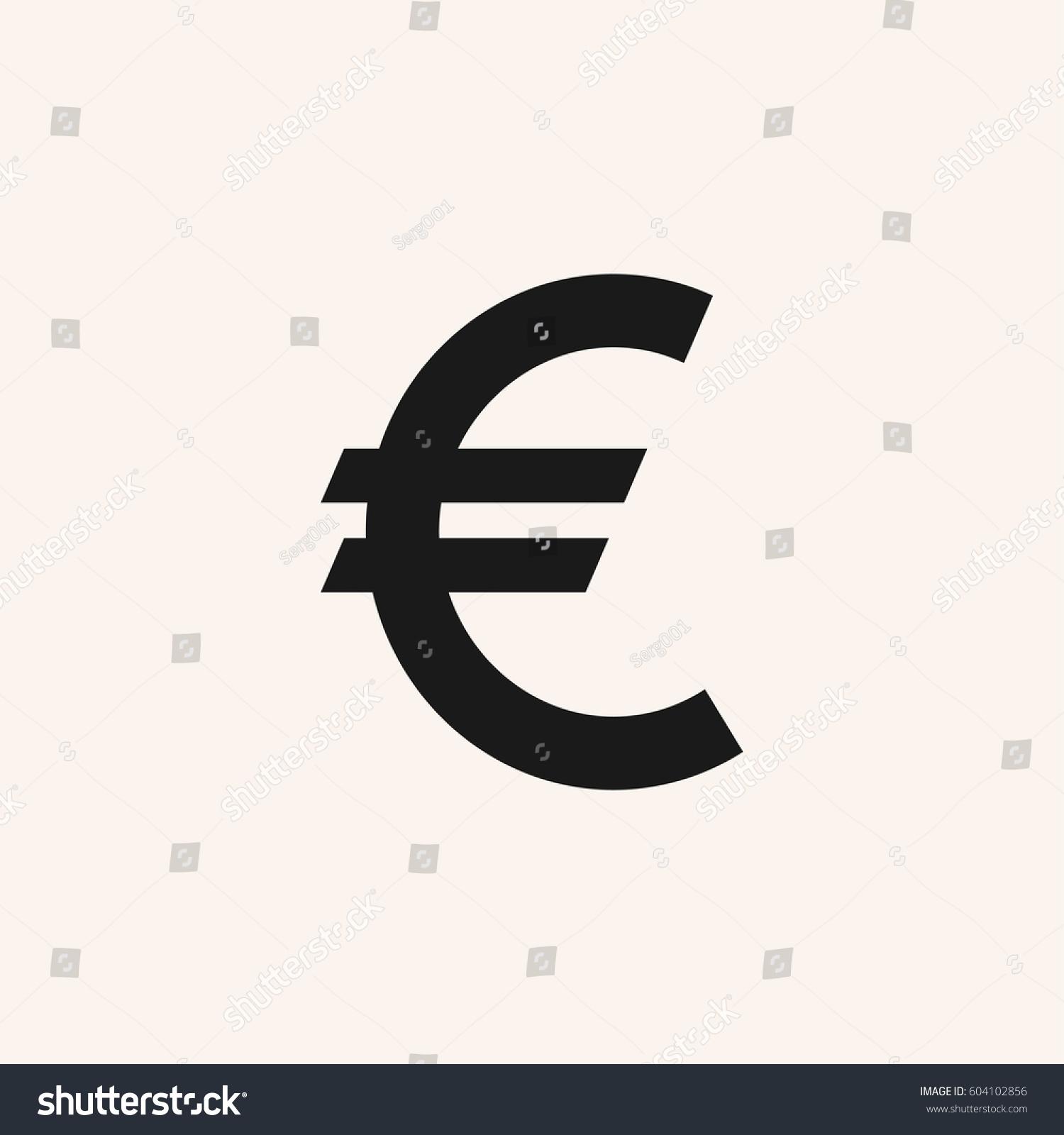 Euro sign vector icon euro currency stock vector 604102856 euro sign vector icon euro currency symbol eur buycottarizona Choice Image