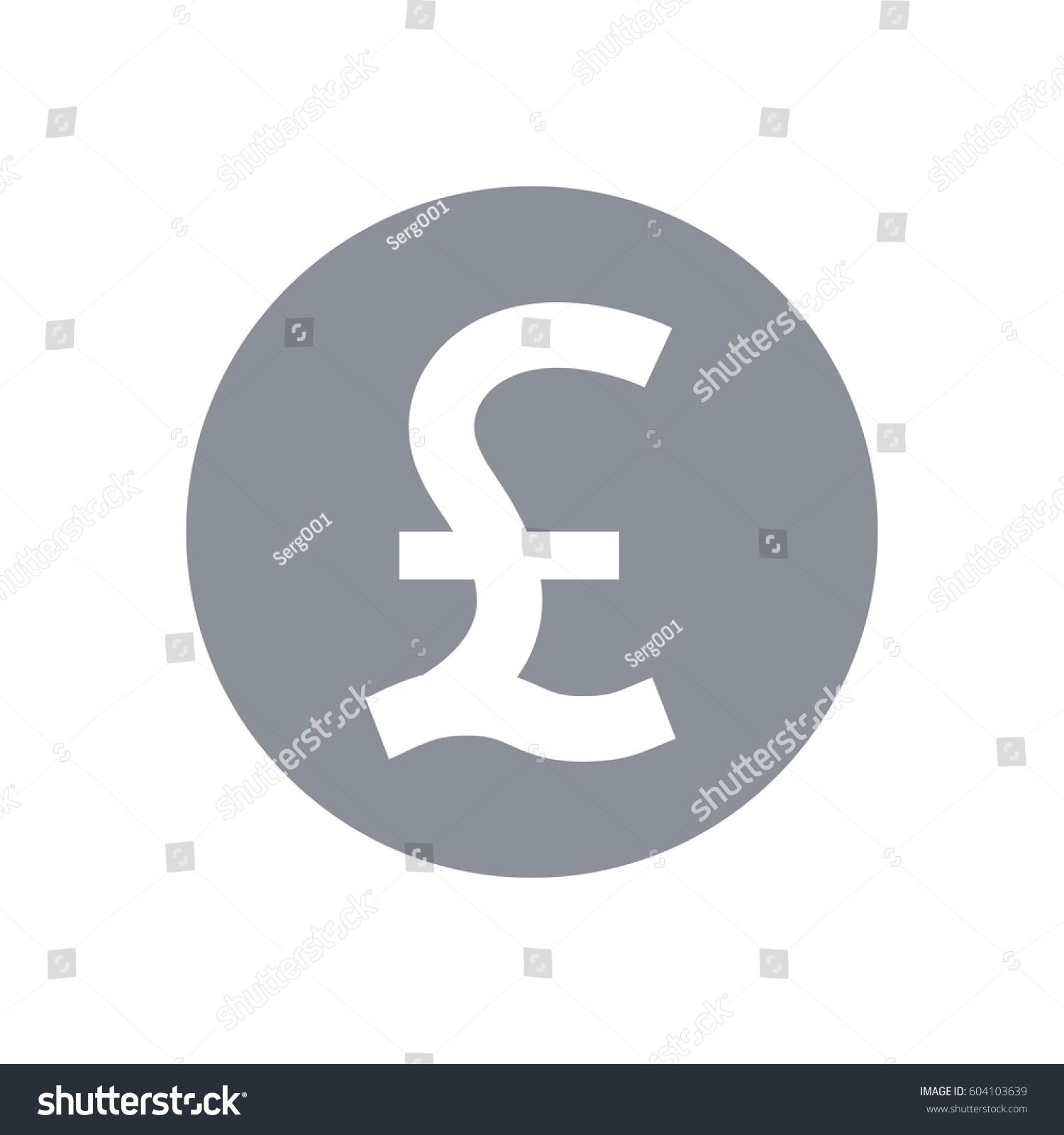 Great Britain Pound Symbol Pound Sterling Stock Vector Royalty Free