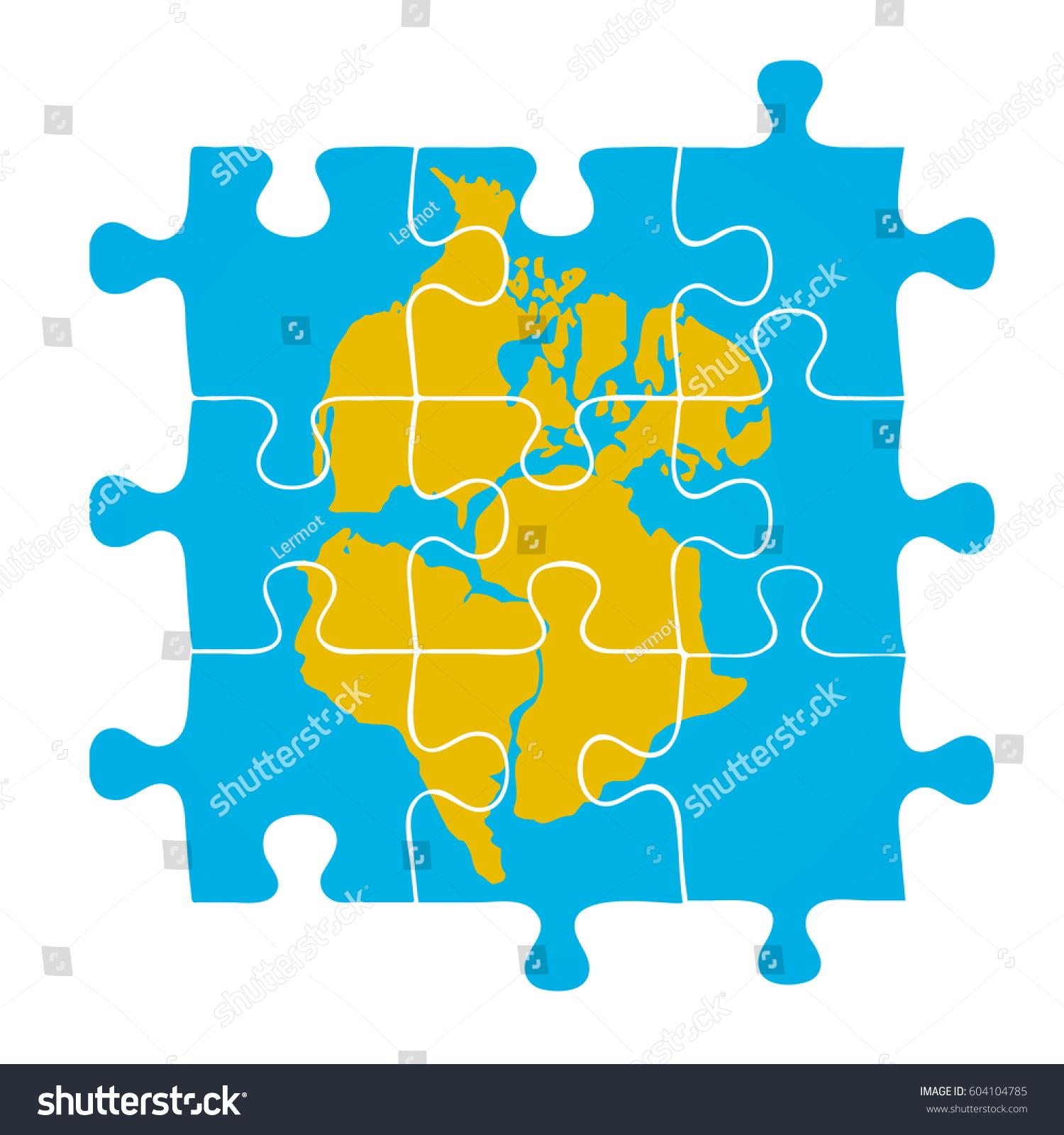 Pangaea puzzle vector illustration vector de stock604104785 pangaea puzzle vector illustration gumiabroncs Images