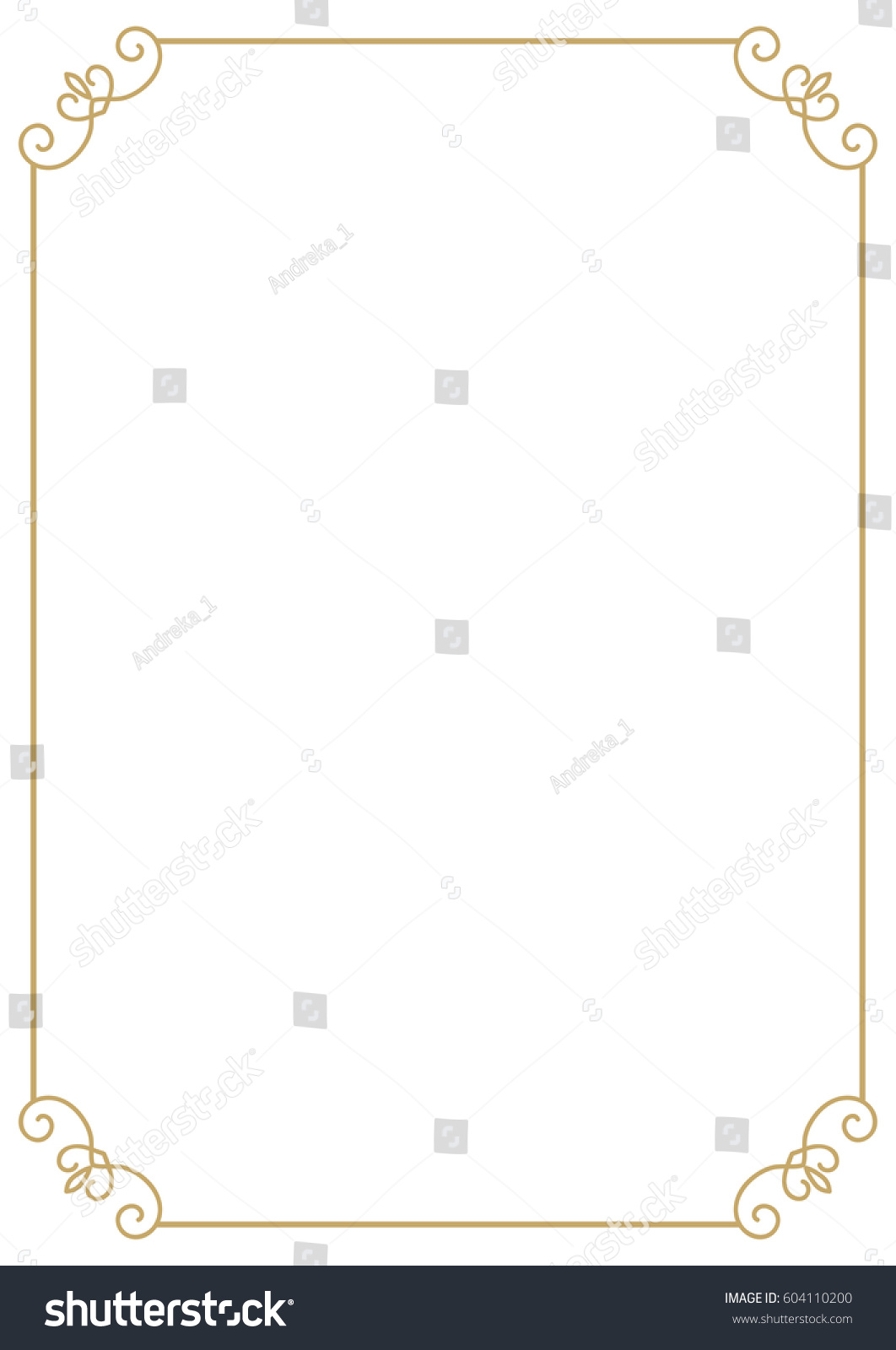 Royalty free vintage premium a4 size frame border 604110200 vintage premium a4 size frame border divider for your design menu website certificate and other xflitez Gallery