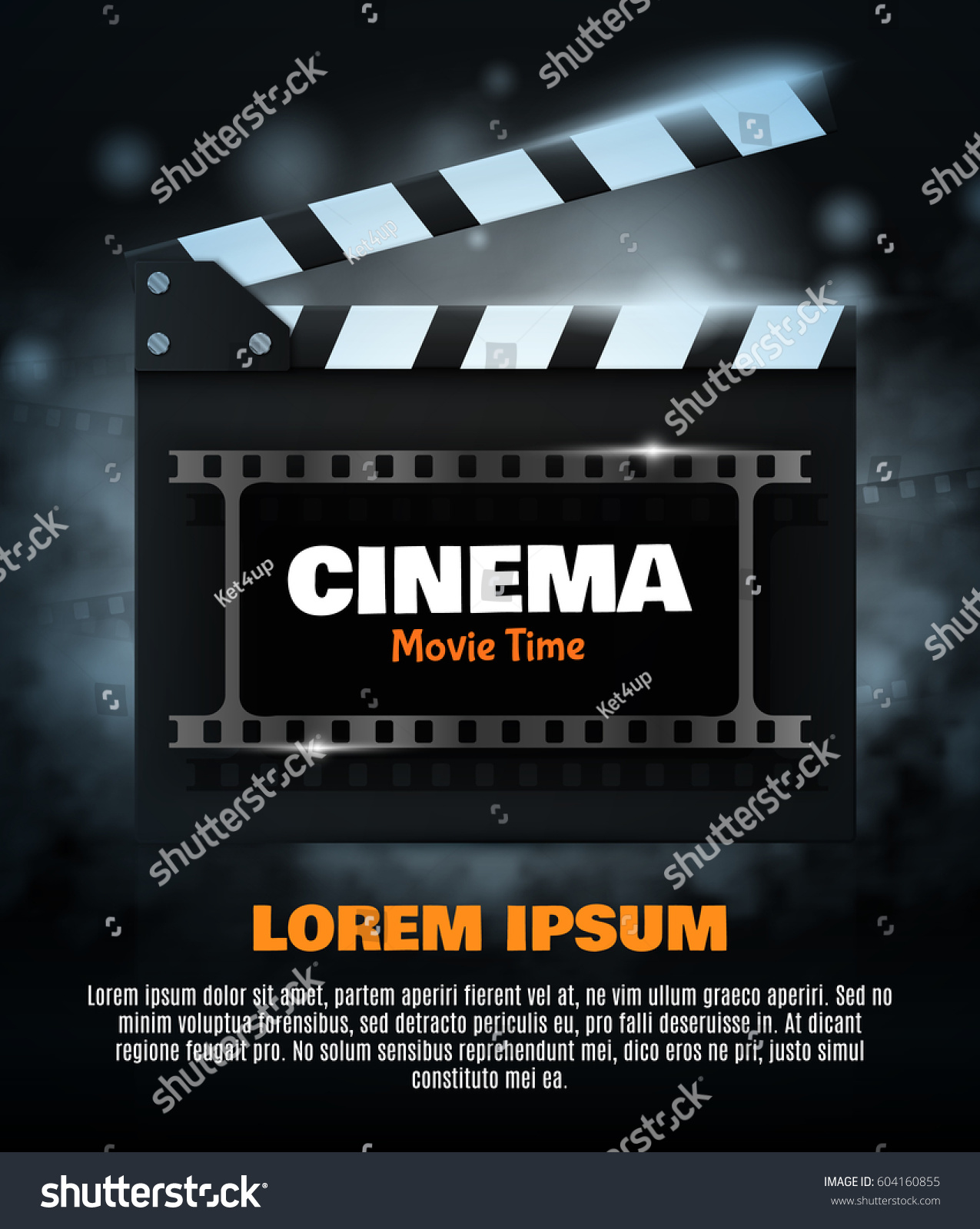 Movie Poster Flyer Template Online Cinema Stock Vector (Royalty Free ...