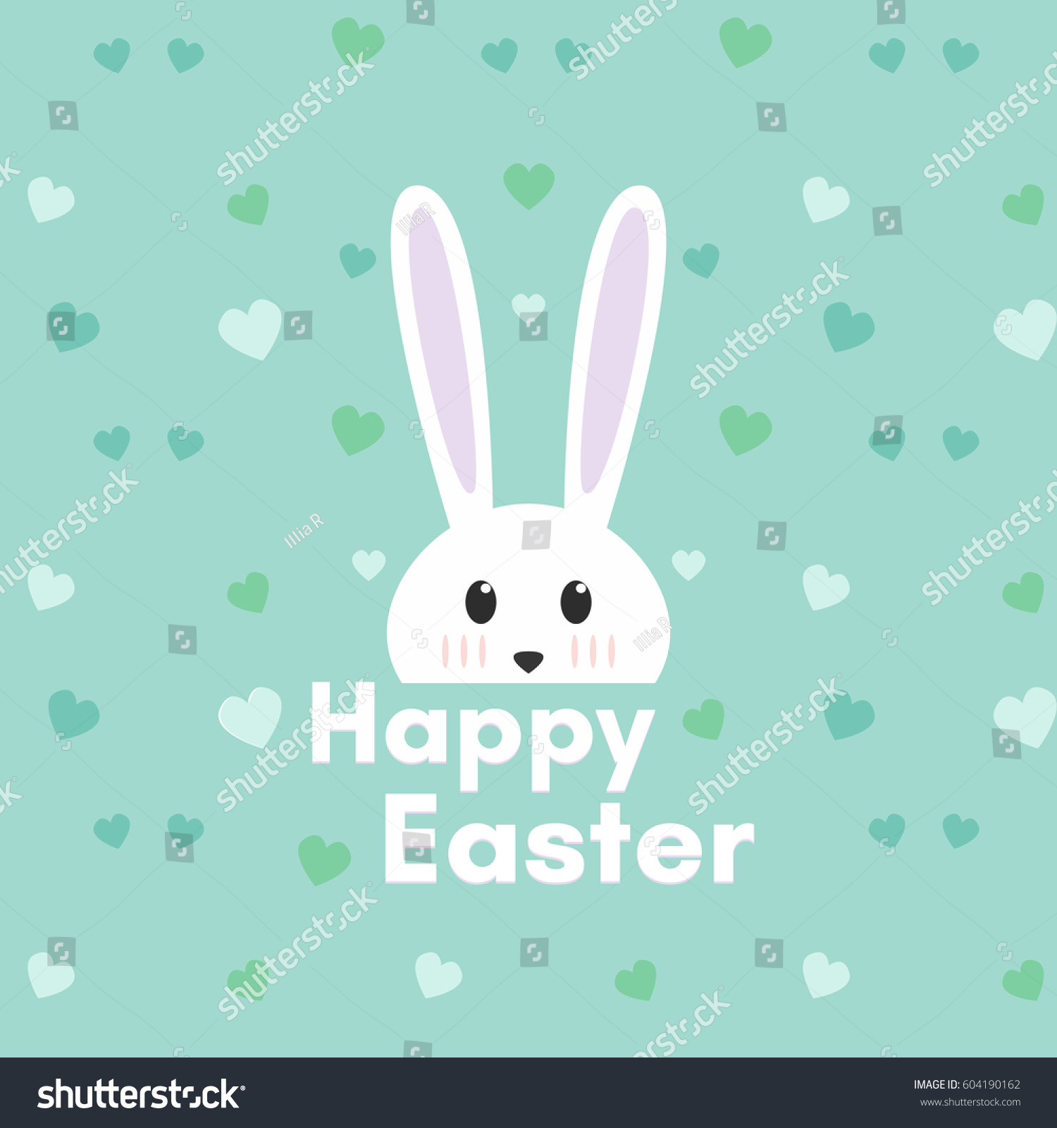 happy easter cartoon celebration rabbit on stock vector 604190162