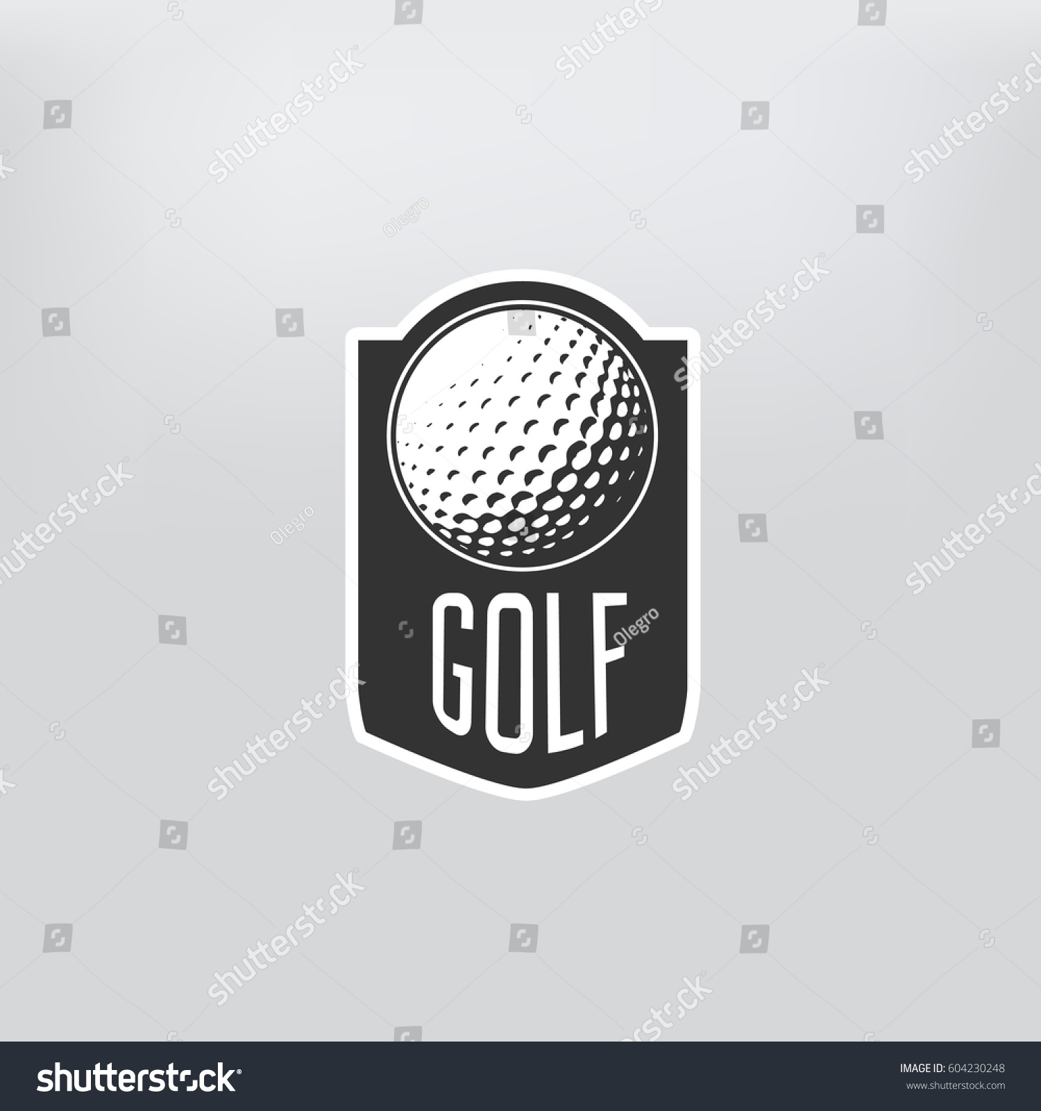 Golf label. sign of golf championship or golf club. Vector illustration