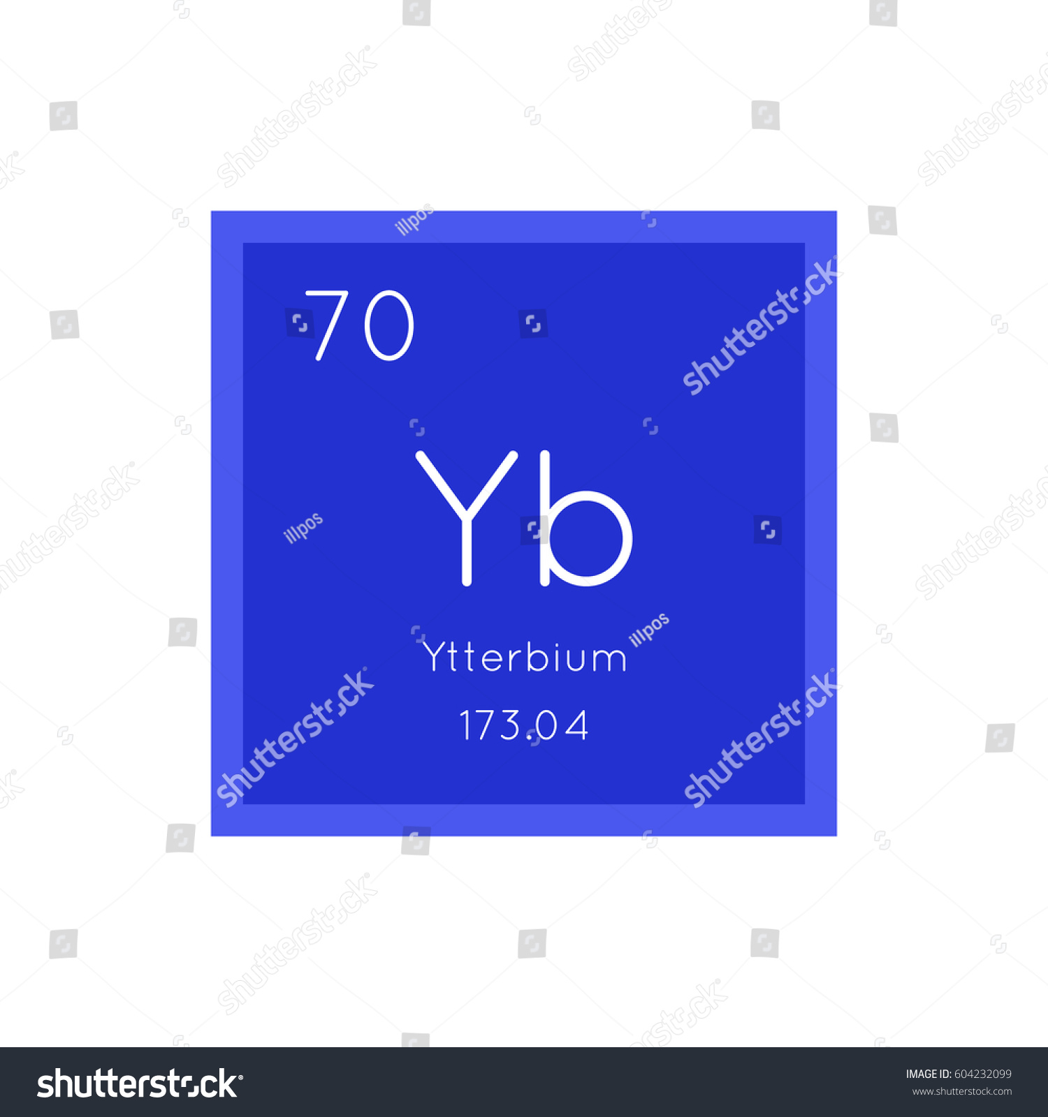Ytterbium Simple Style Tile Icon Chemical Stock Vector 604232099