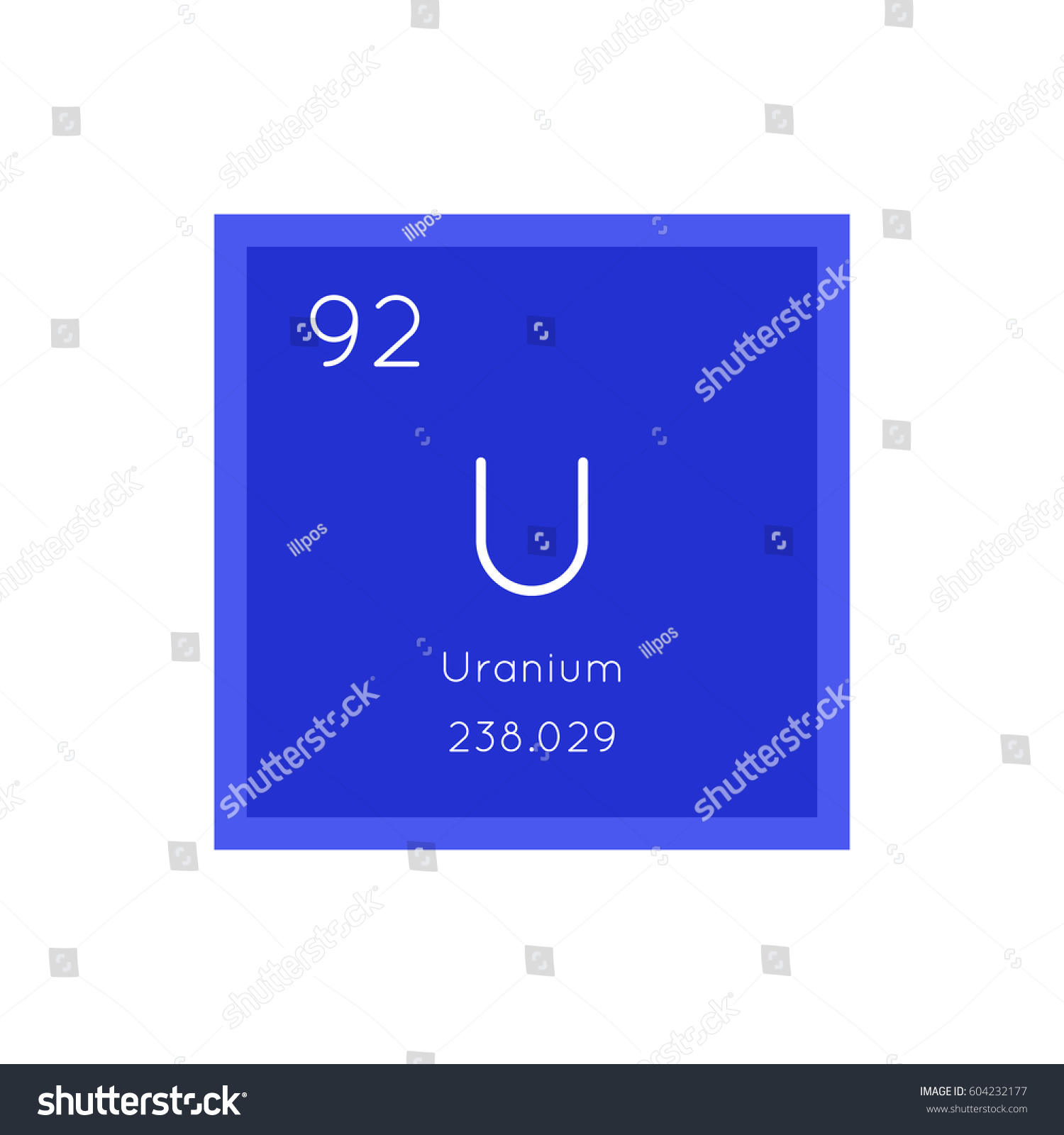 Uranium simple style tile icon chemical stock vector 604232177 uranium simple style tile icon chemical element of periodic table vector illustration eps8 buycottarizona Images