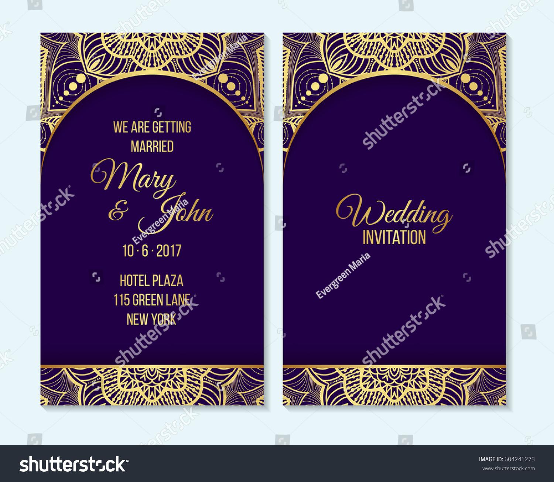 Indian Wedding Food Menu Samples: Wedding Invitation Thank You Card Save Stock Vector