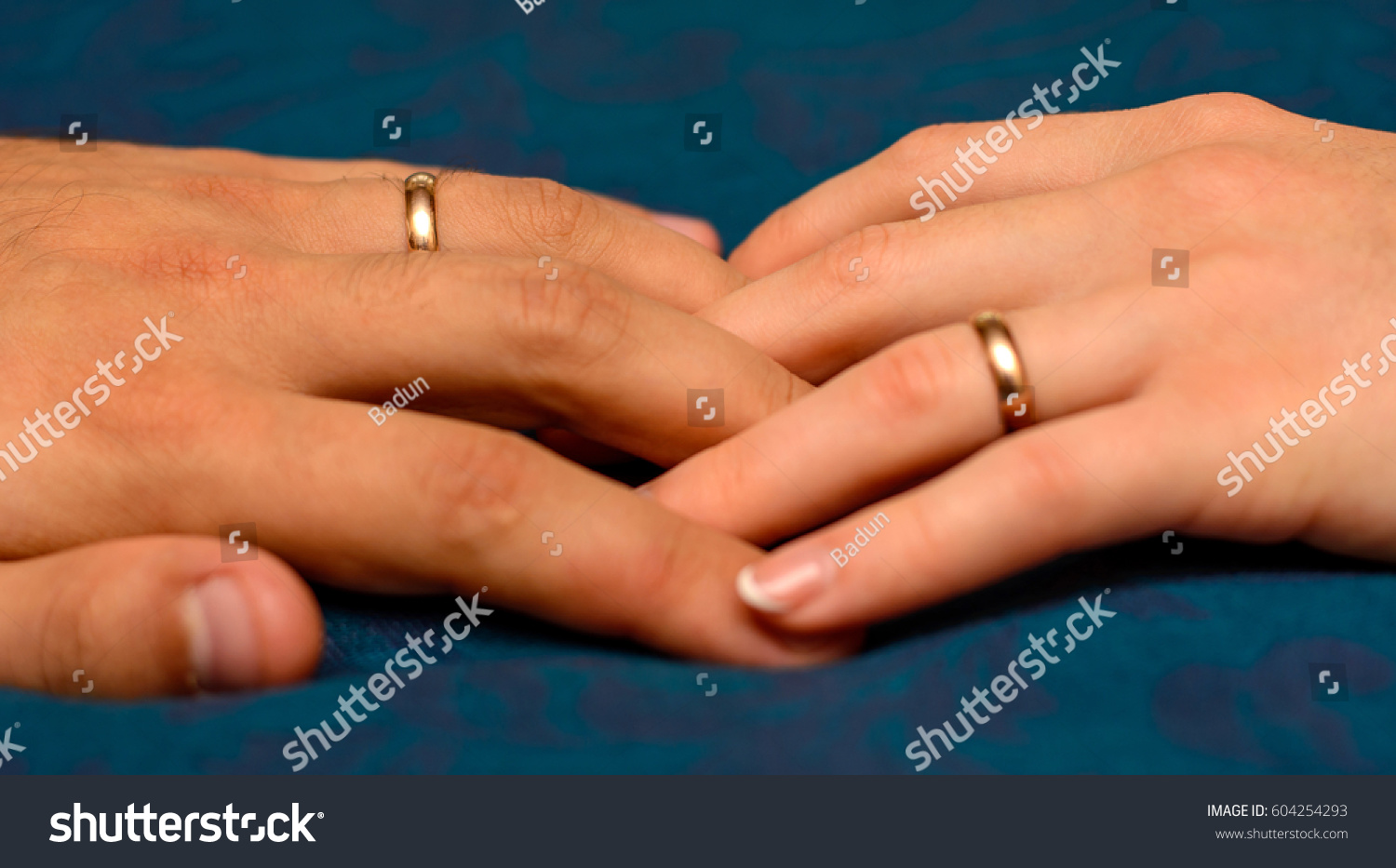 photo two hands beautiful wedding rings stock photo