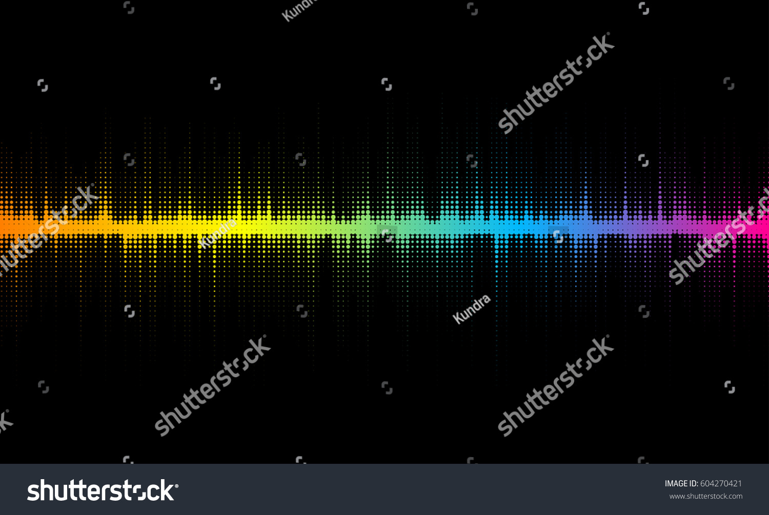 Vector Halftone Sound Wave Design Colorful Element For Musical Backgrounds