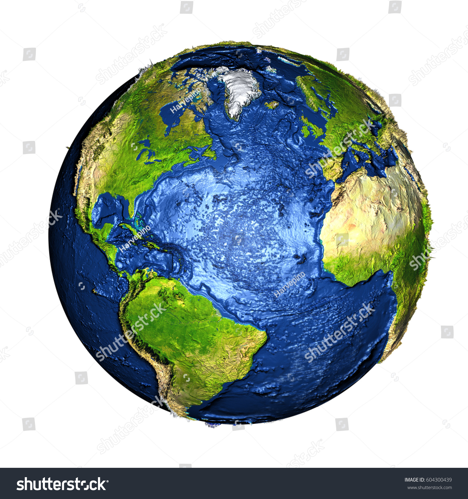 Royalty Free Stock Illustration Of Northern Hemisphere On Planet