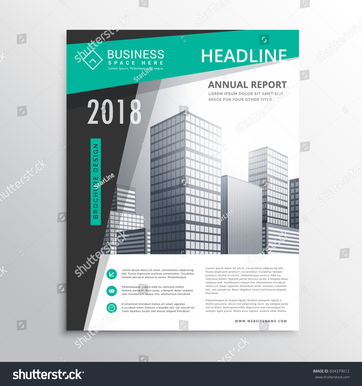 Awesome business brochure flyer design template stock for Awesome brochure templates