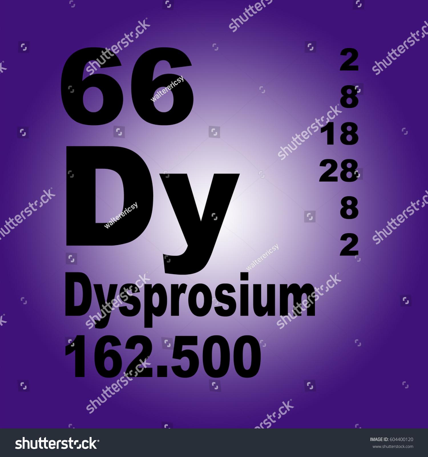 dysprosium periodic table elementsのイラスト素材 604400120