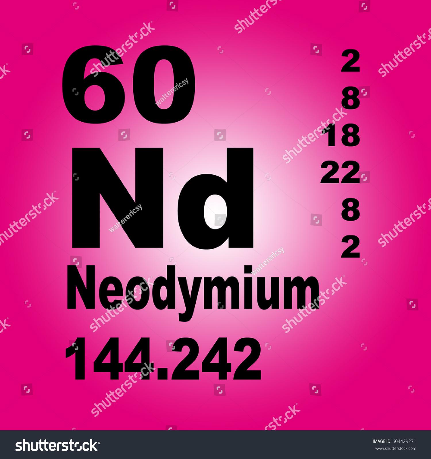 Neodymium periodic table elements stock illustration 604429271 neodymium periodic table of elements gamestrikefo Choice Image