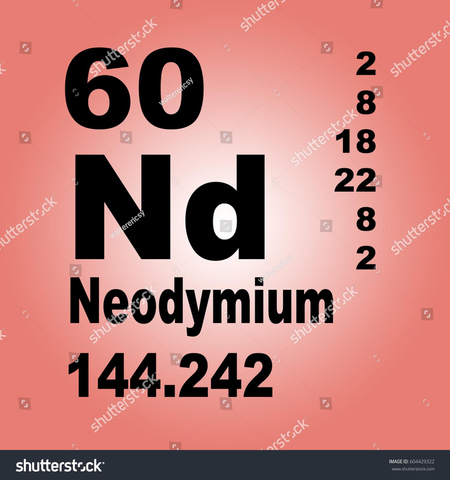 Neodymium periodic table elements stock illustration 604429322 neodymium periodic table of elements gamestrikefo Choice Image