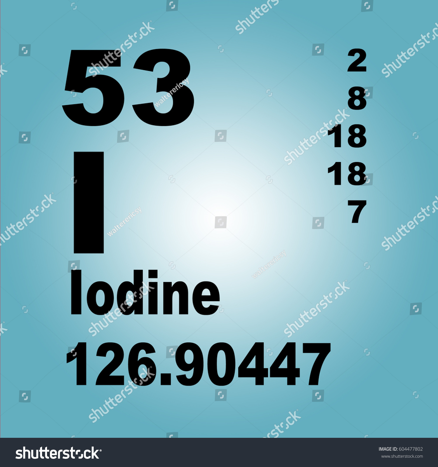 Iodine periodic table elements stock illustration 604477802 iodine periodic table of elements gamestrikefo Choice Image