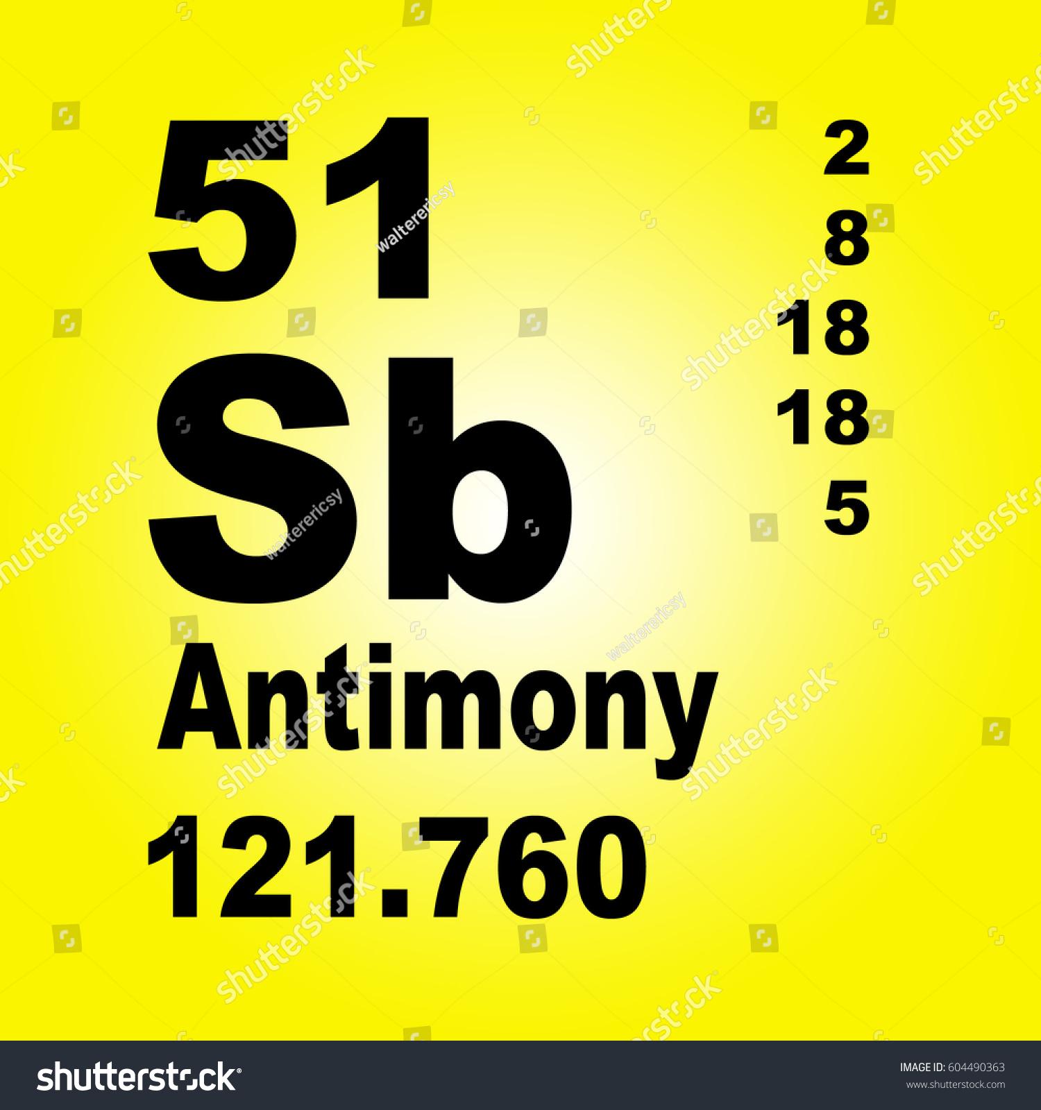 Antimony periodic table elements stock illustration 604490363 antimony periodic table of elements gamestrikefo Choice Image