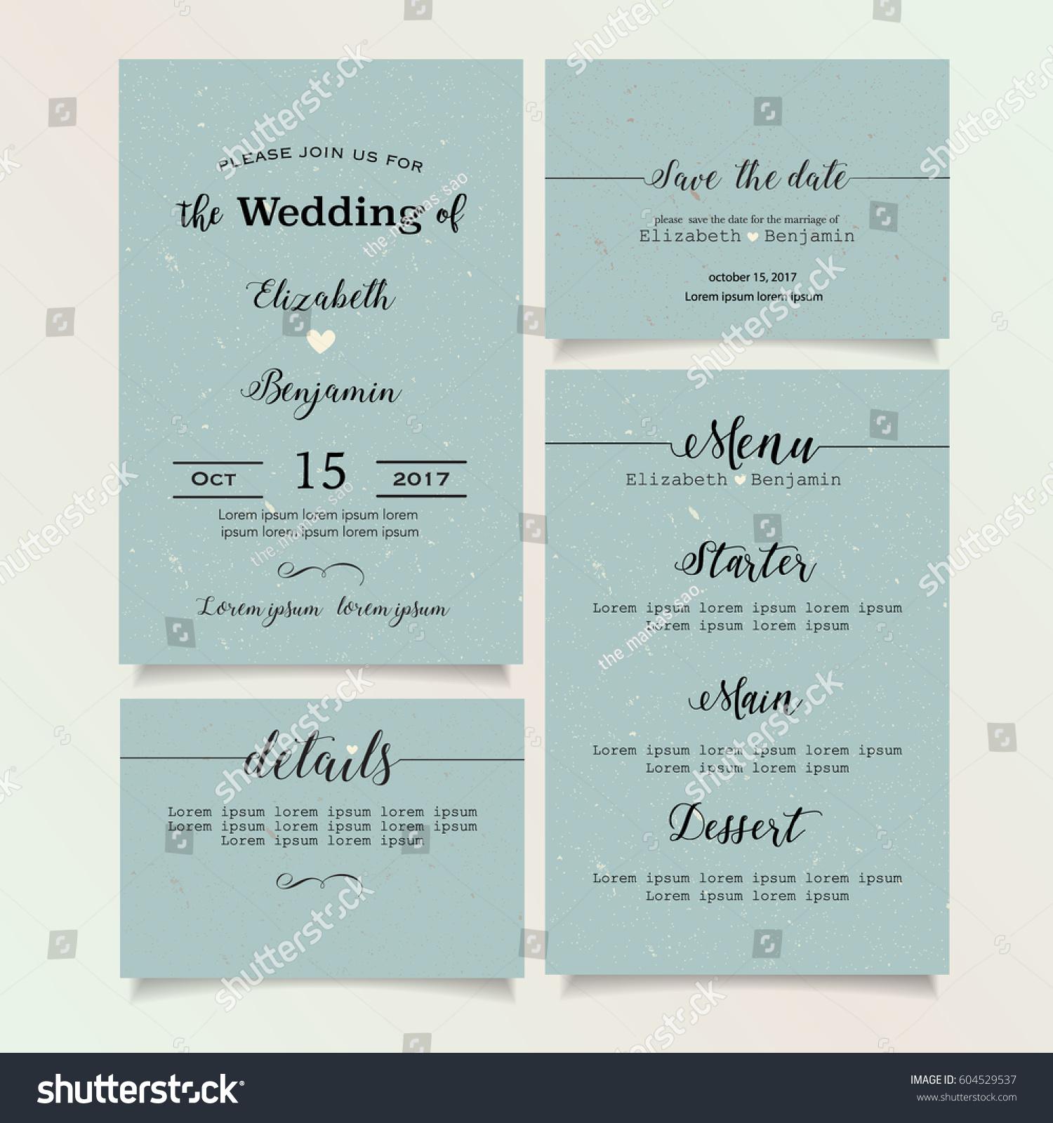 Beautiful vintage wedding invitation card details stock vector beautiful vintage wedding invitation card details card save the date card menu card stopboris Image collections