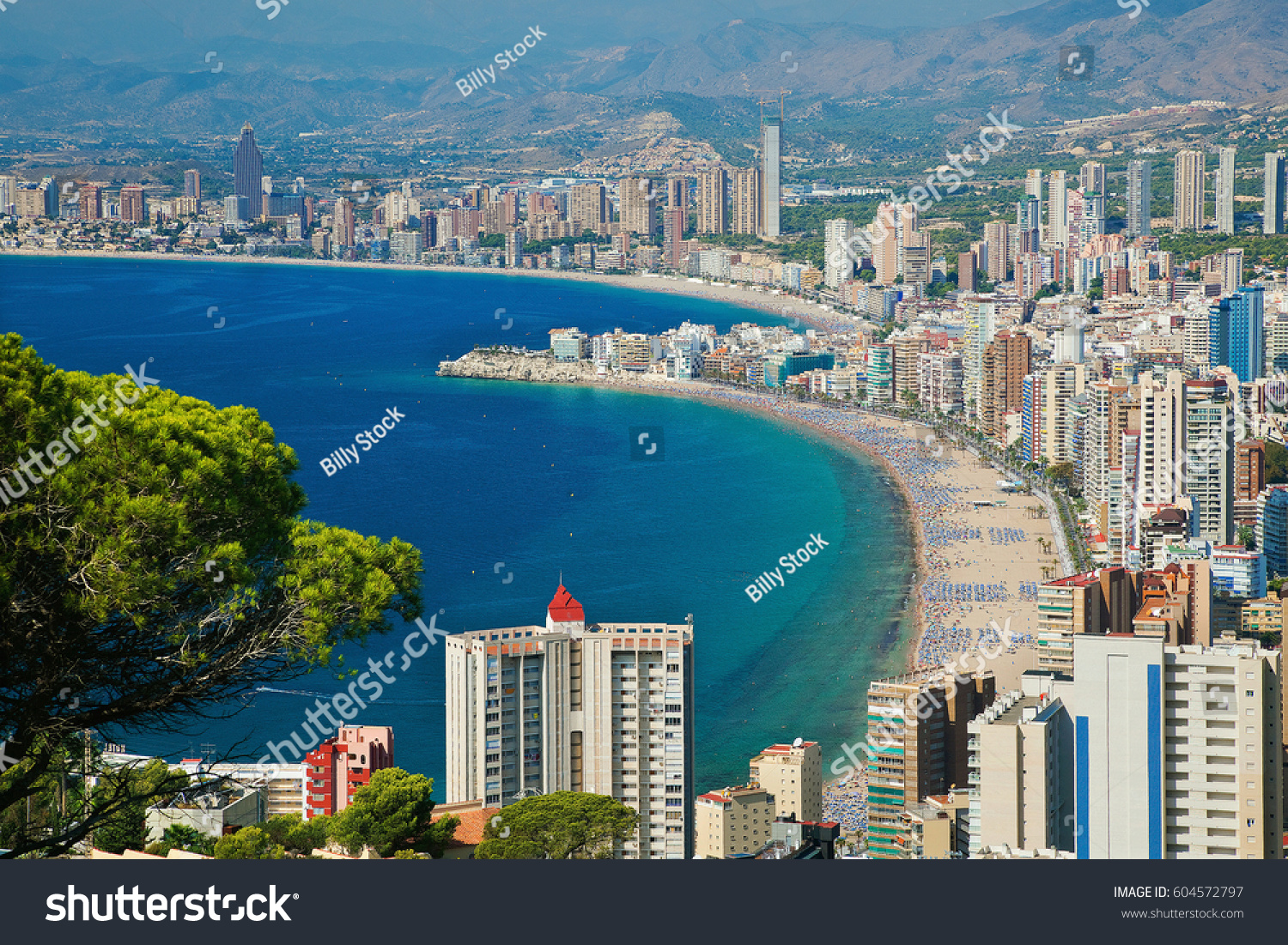 Benidorm costa blanca alicante spain stock photo 604572797 - Stock uno alicante ...