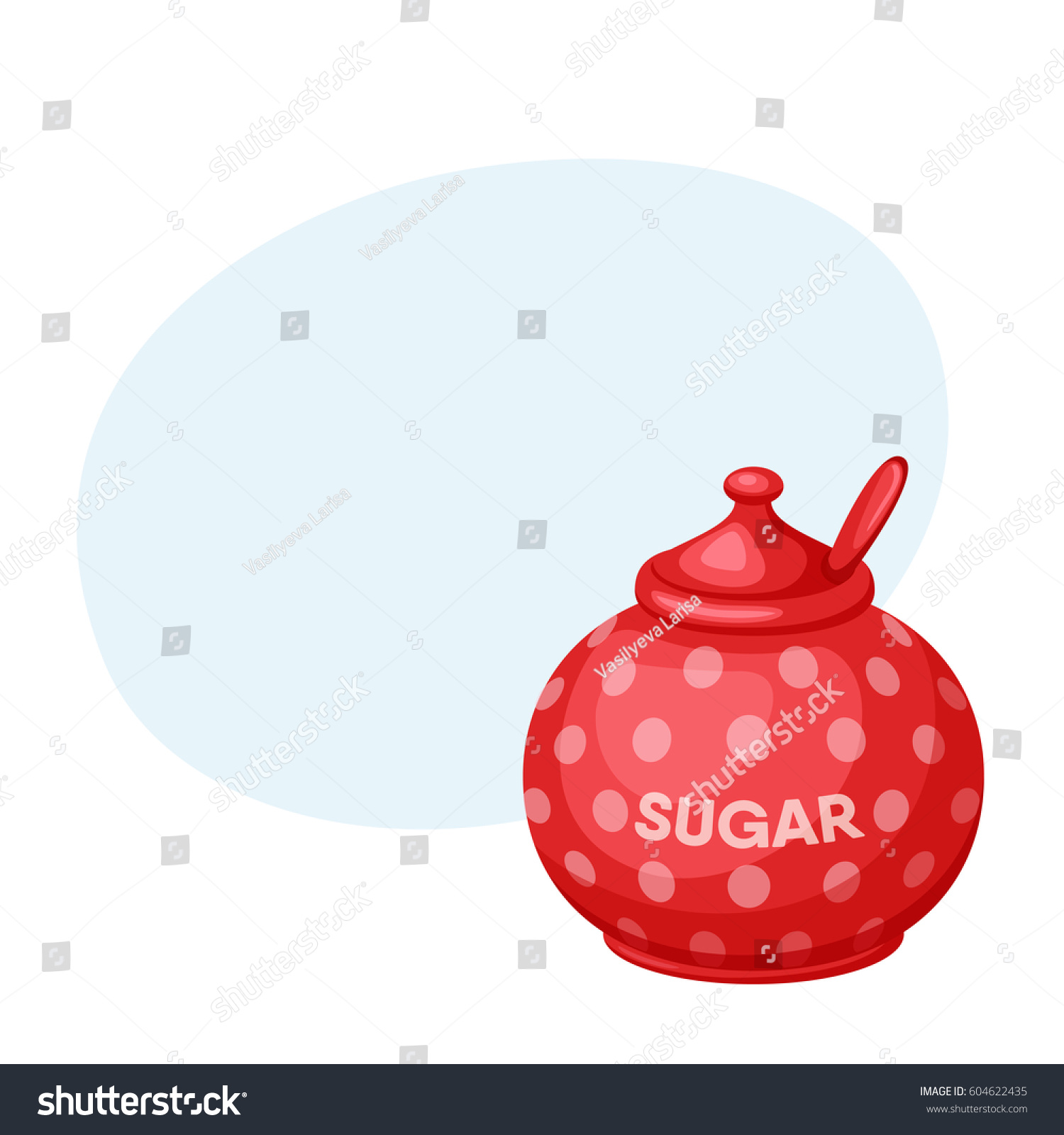 sugar bowl spoon baking cooking ingre nts stock vector