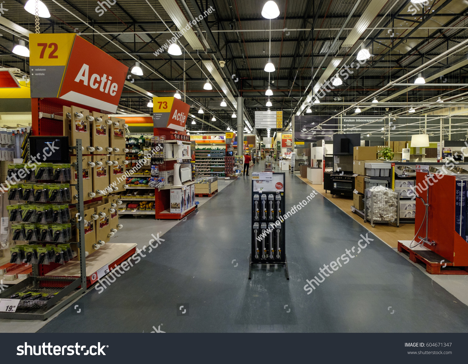 Amsterdam march 2017 interior big doityourself stock photo royalty interior of a big do it yourself store with solutioingenieria Gallery