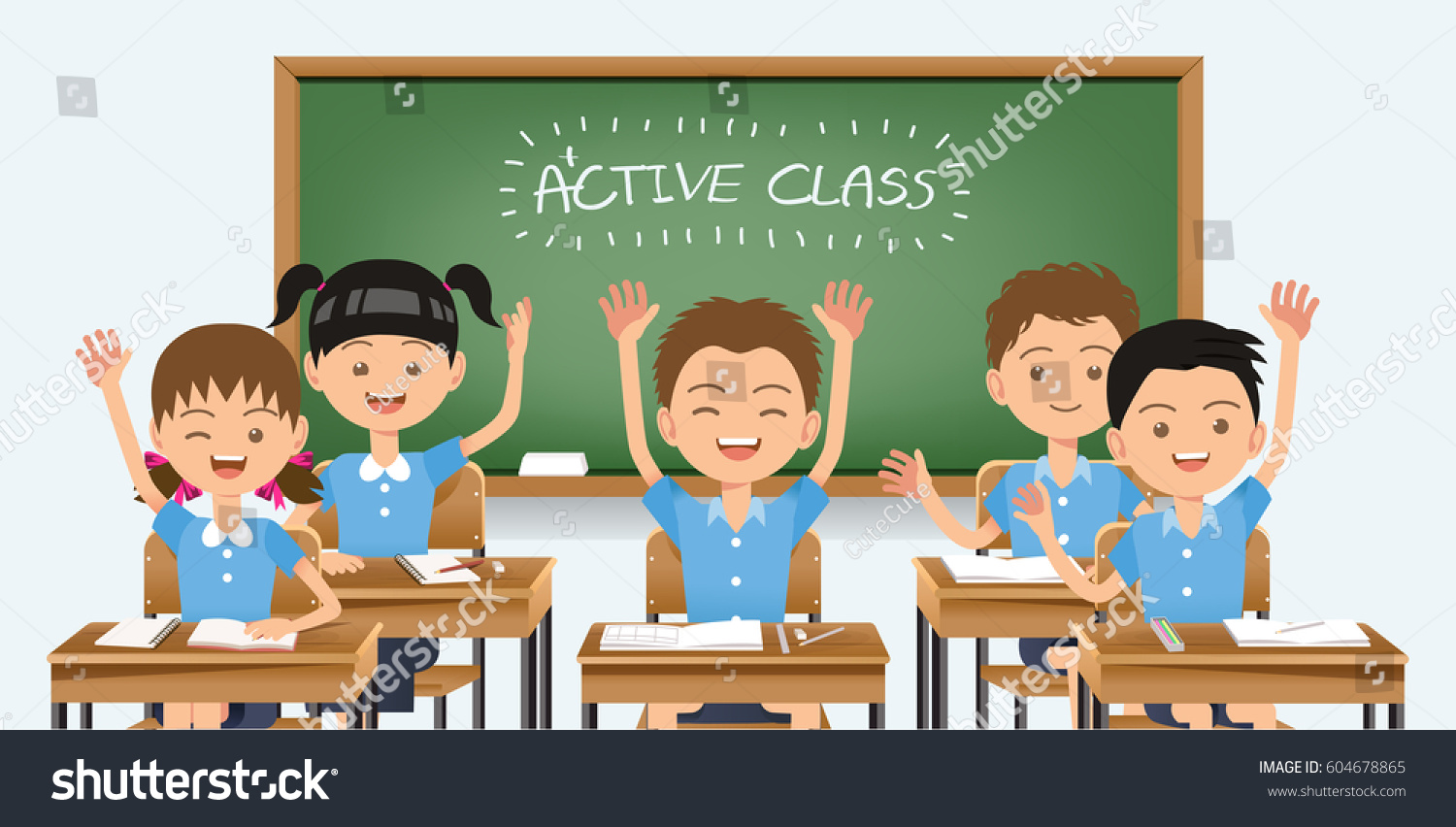 good healthy students interested fun learning のベクター画像素材