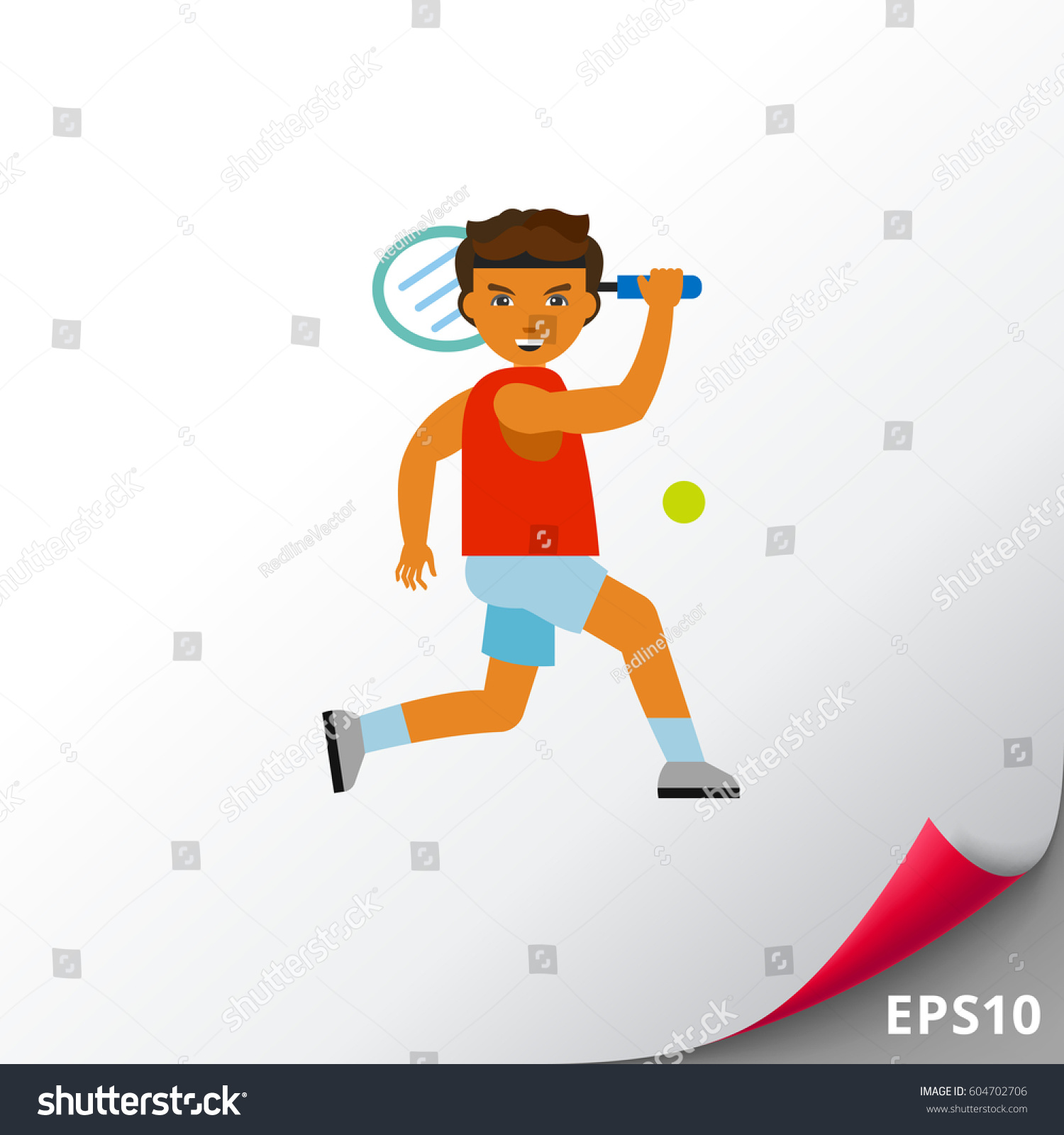 Roger Federer Vector Icon Stock Vector Royalty Free 604702706