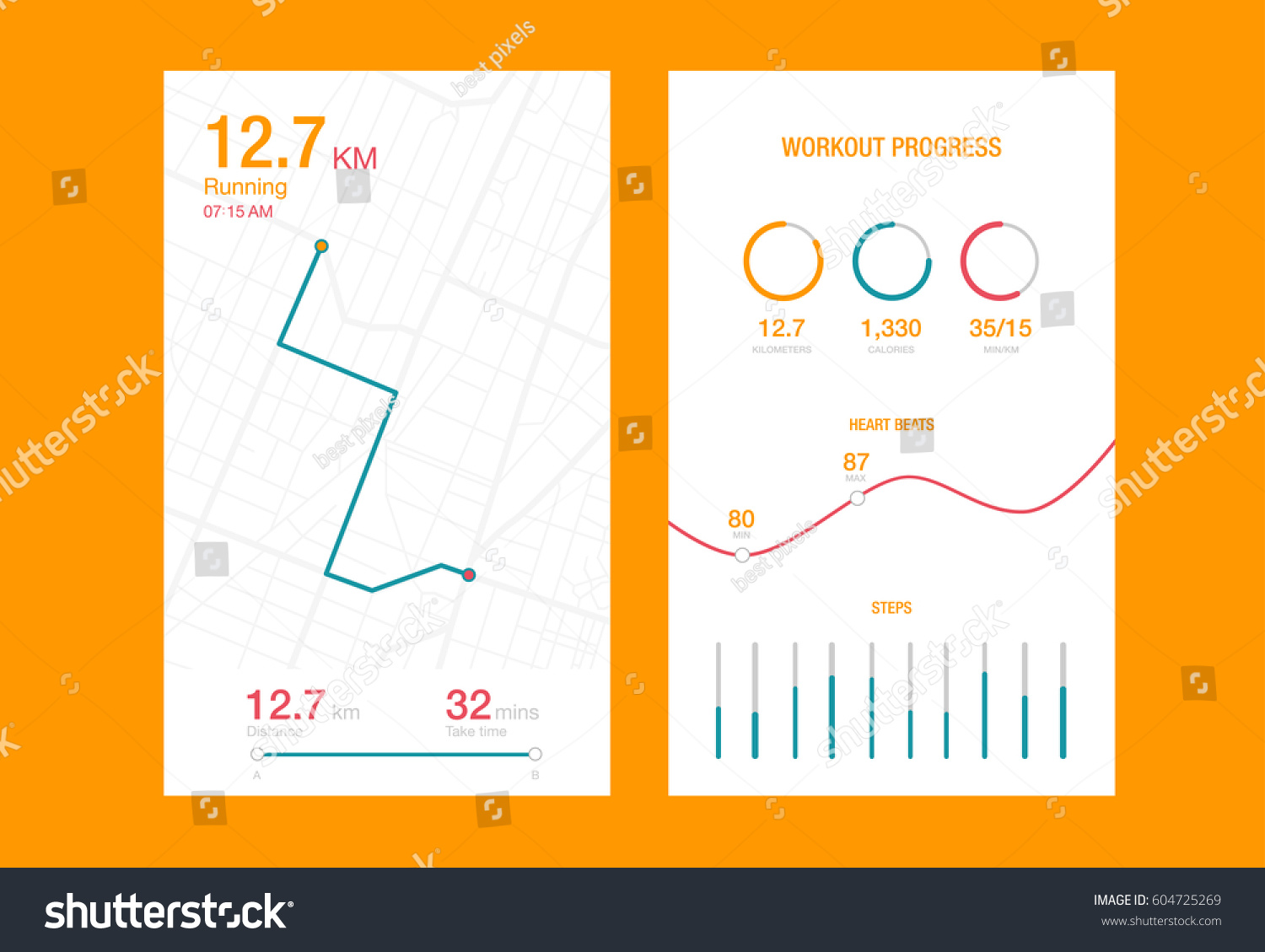 Infographic creative design vector set 15