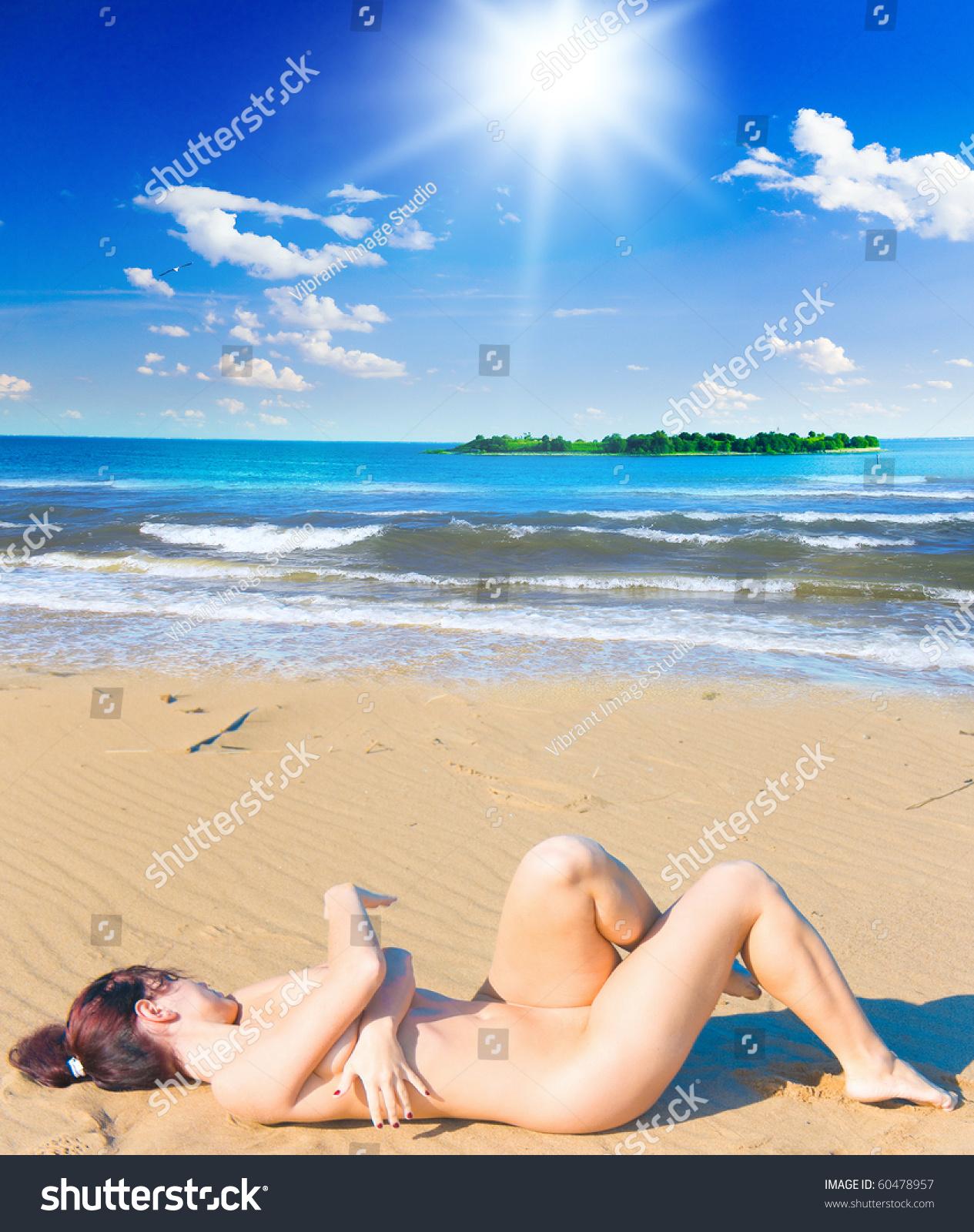 Nudist Beach Posing Stock Photo Edit Now 60478957