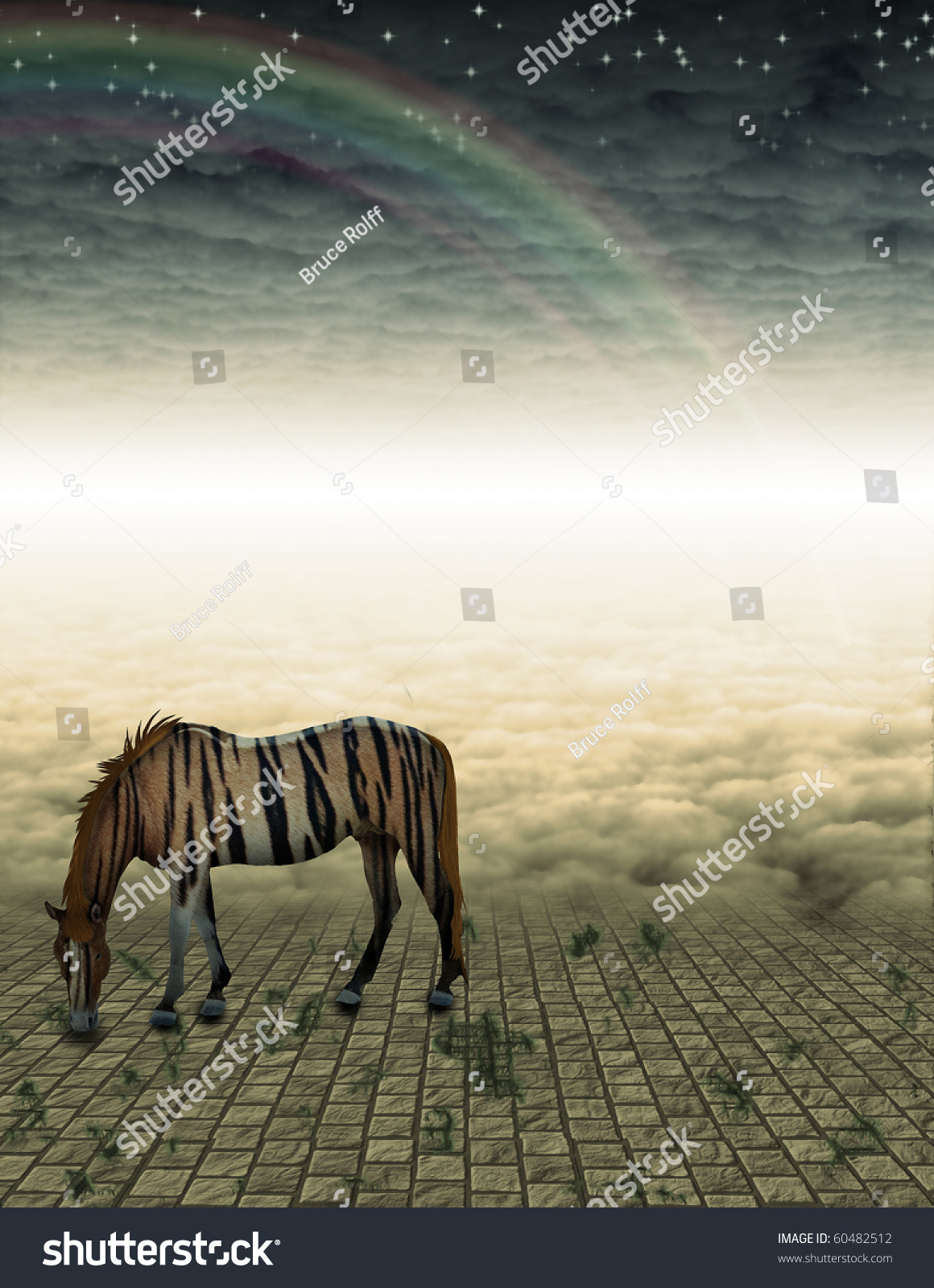 Unreal Horse in mysterious landscape #60482512