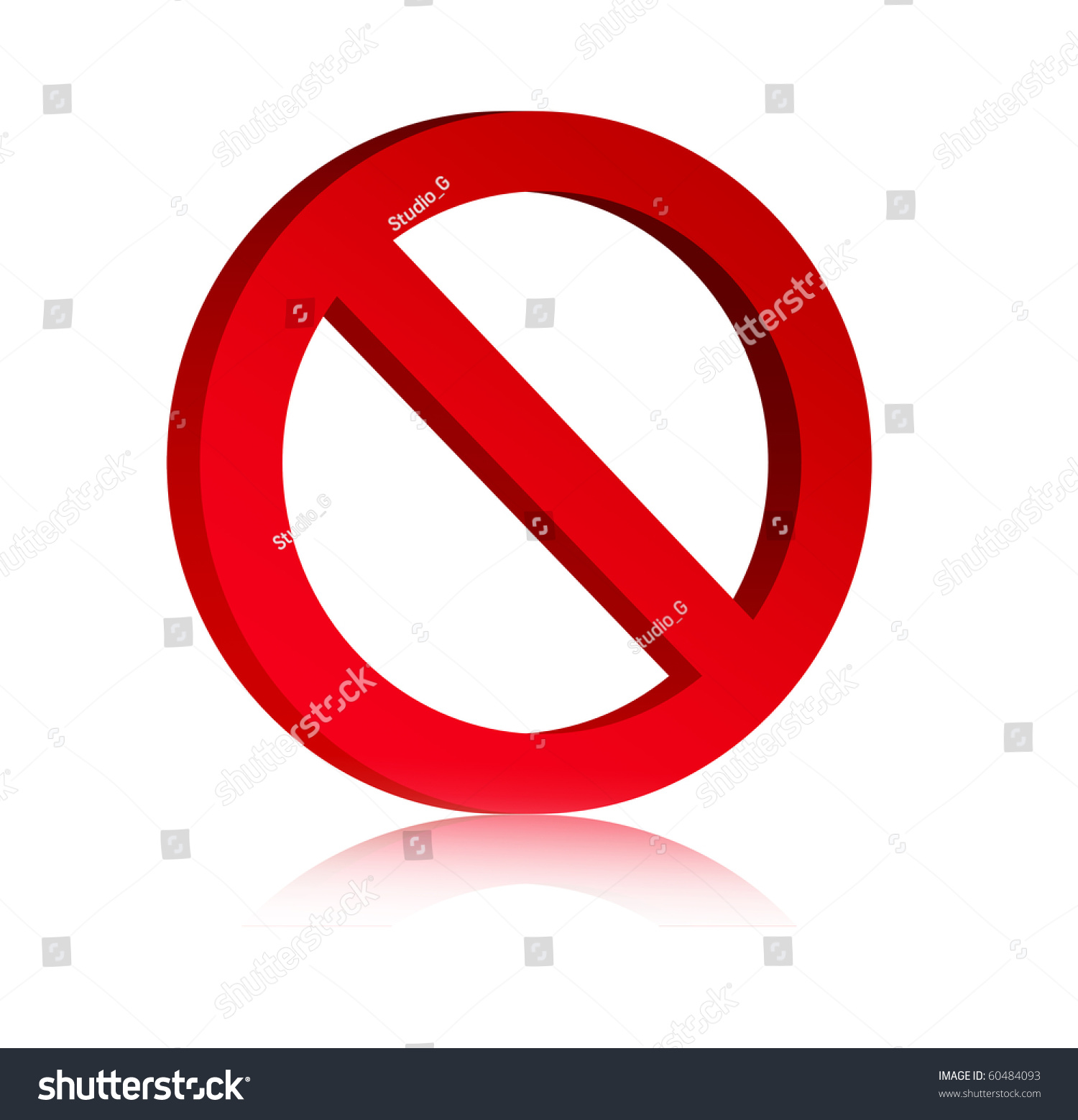 3d red prohibited symbol over white stock illustration 60484093 3d red prohibited symbol over white background empty to insert text or design buycottarizona Choice Image