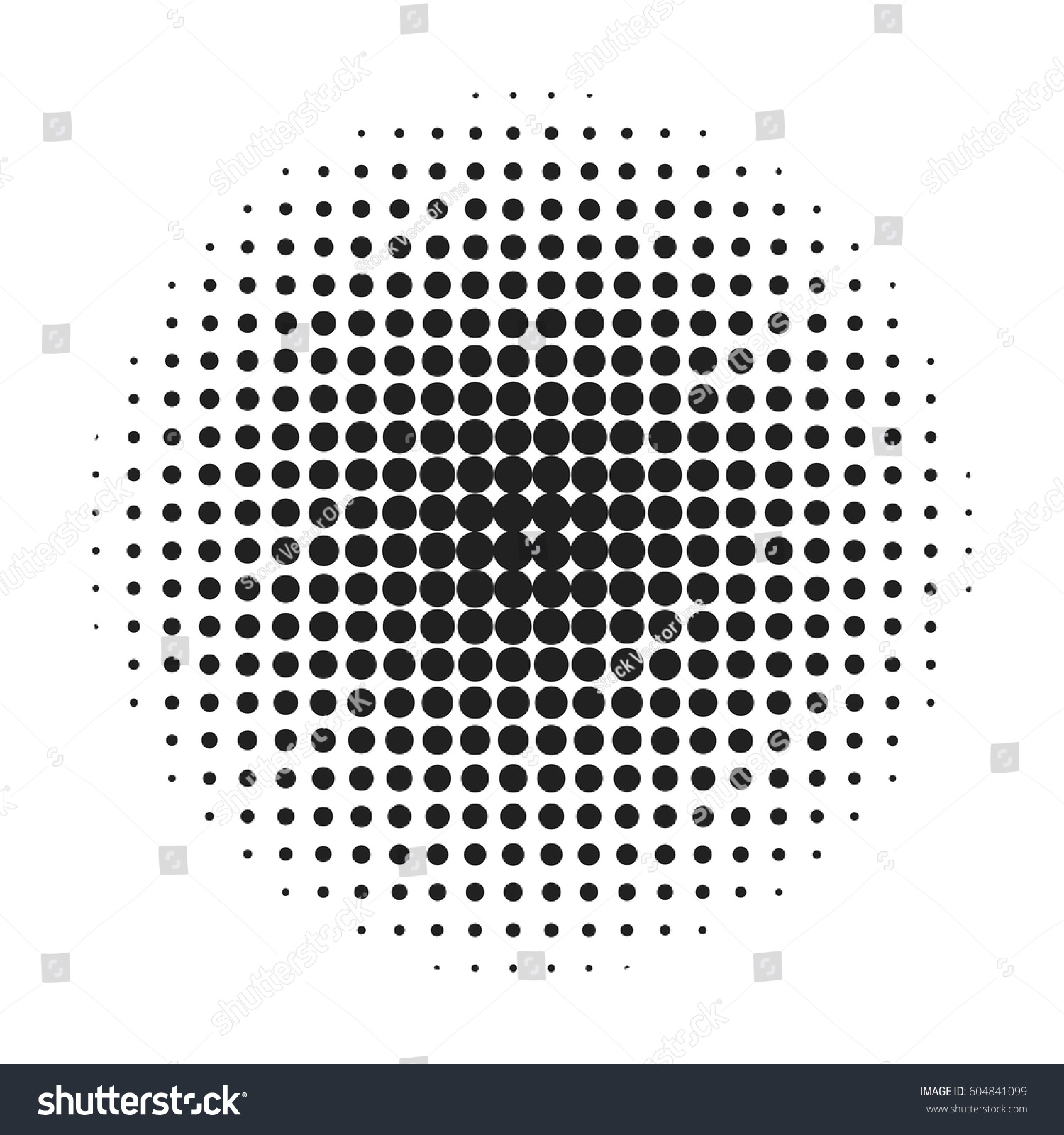 halftone circle background spotted circles overlay stock vector