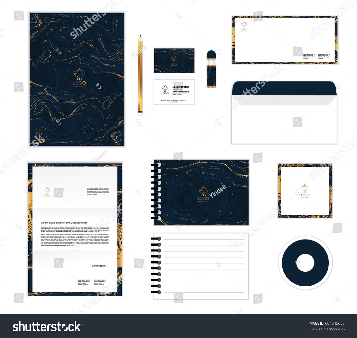 Corporate Identity Template Your Business Includes Stock Vector ...