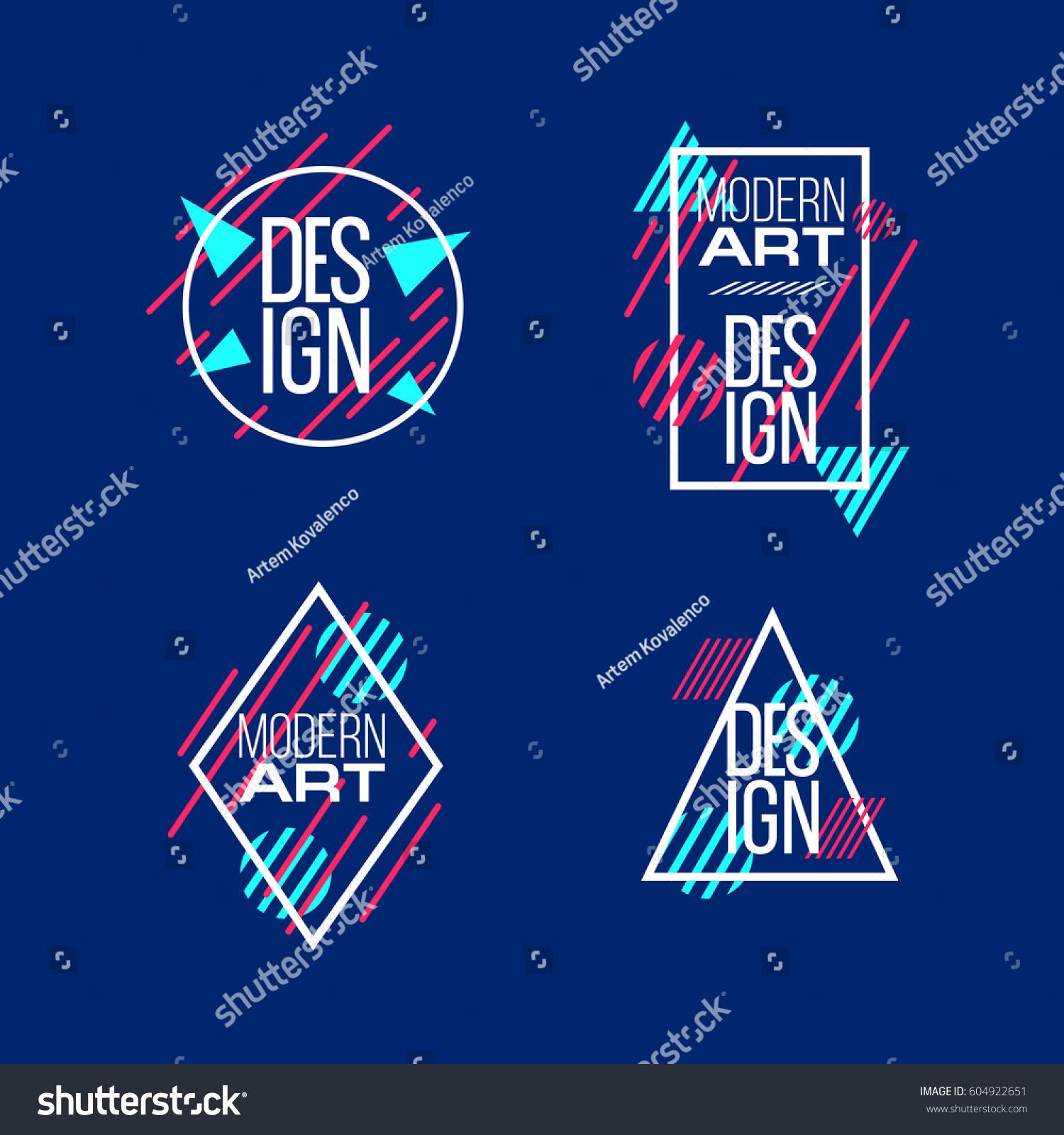 Vector Frame Text Modern Art Graphics Stock Vector