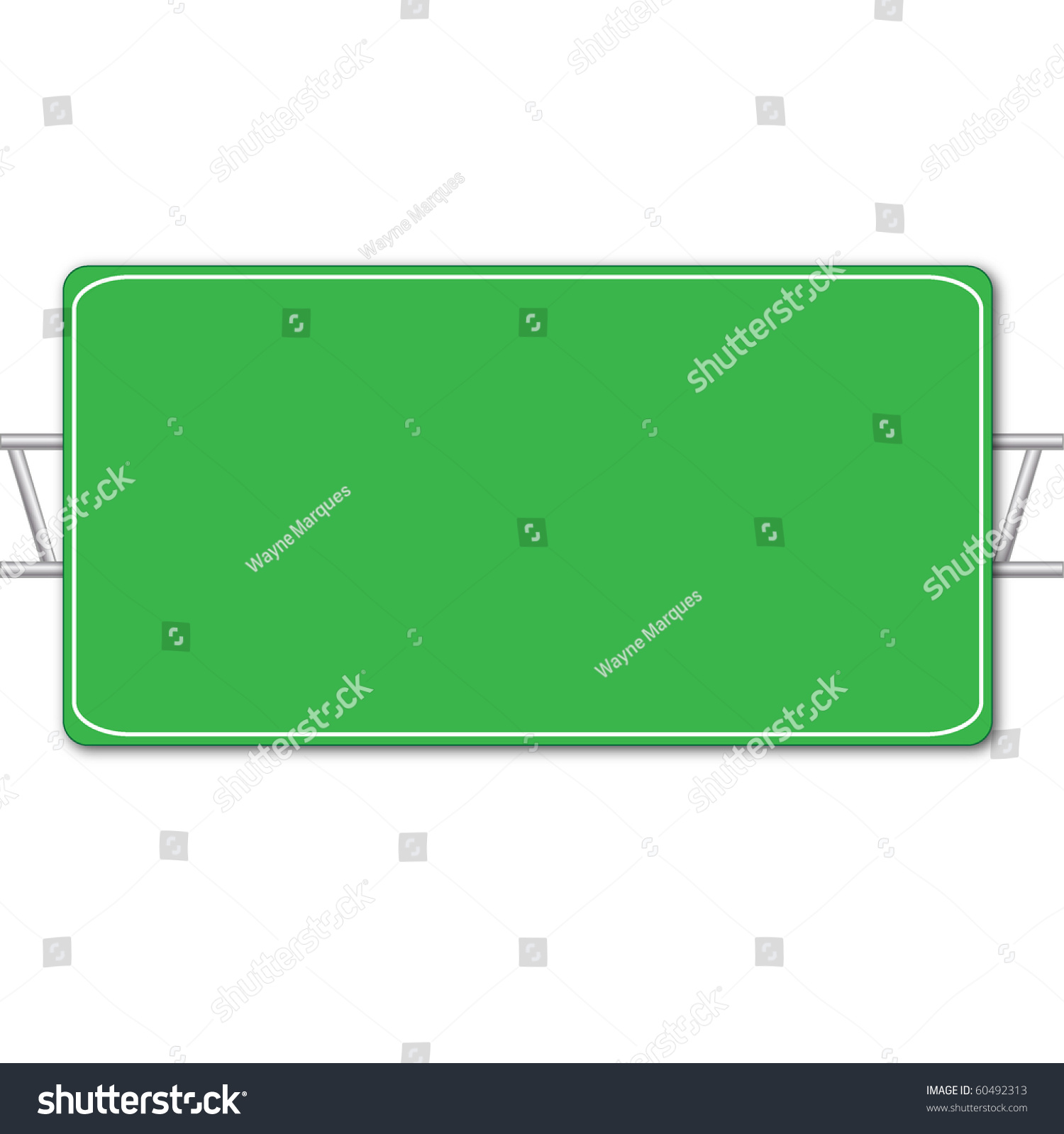 blank highway sign isolated on white stock illustration