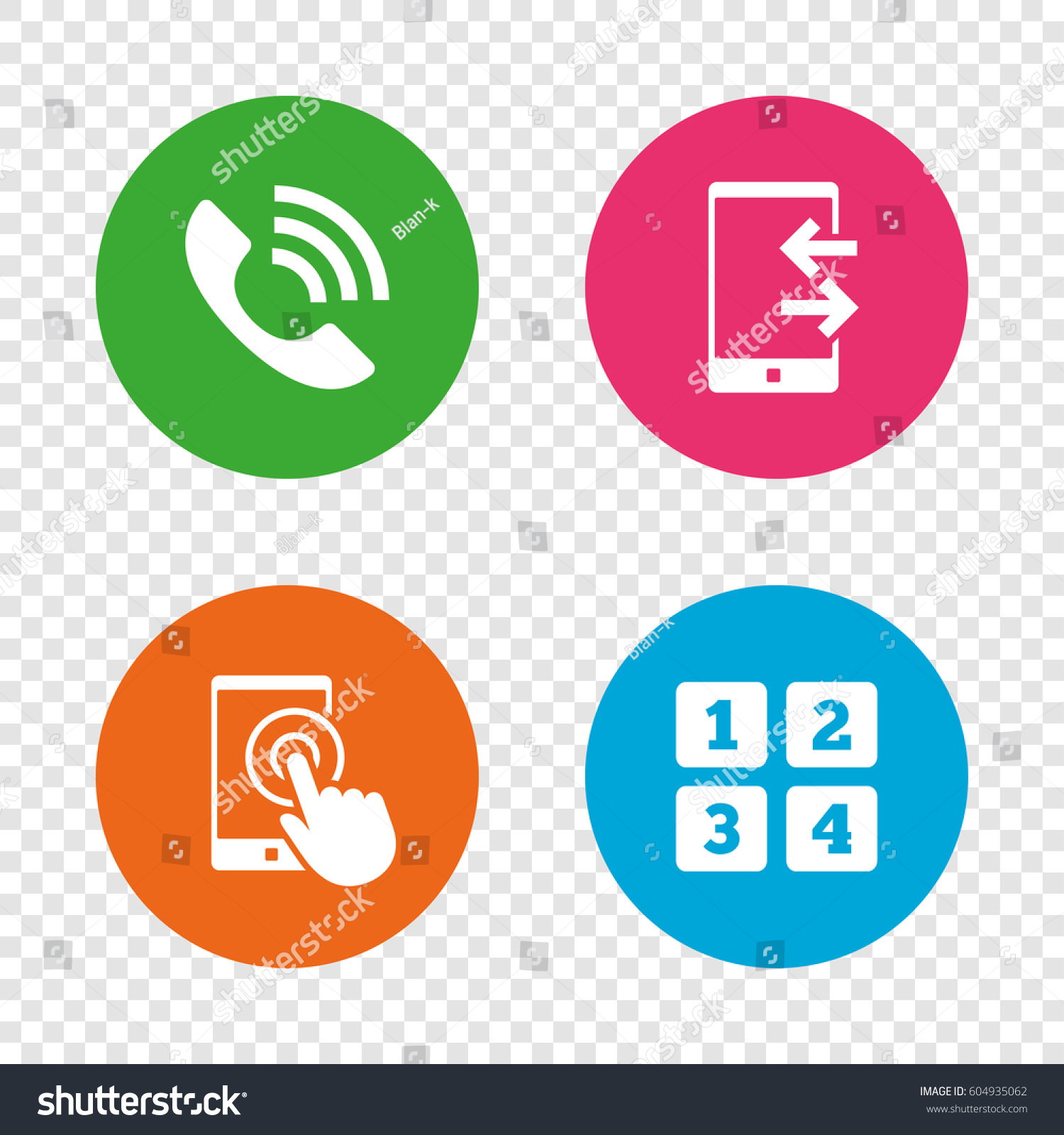Phone icons touch screen smartphone sign stock vector 604935062 phone icons touch screen smartphone sign call center support symbol cellphone keyboard symbol biocorpaavc Gallery